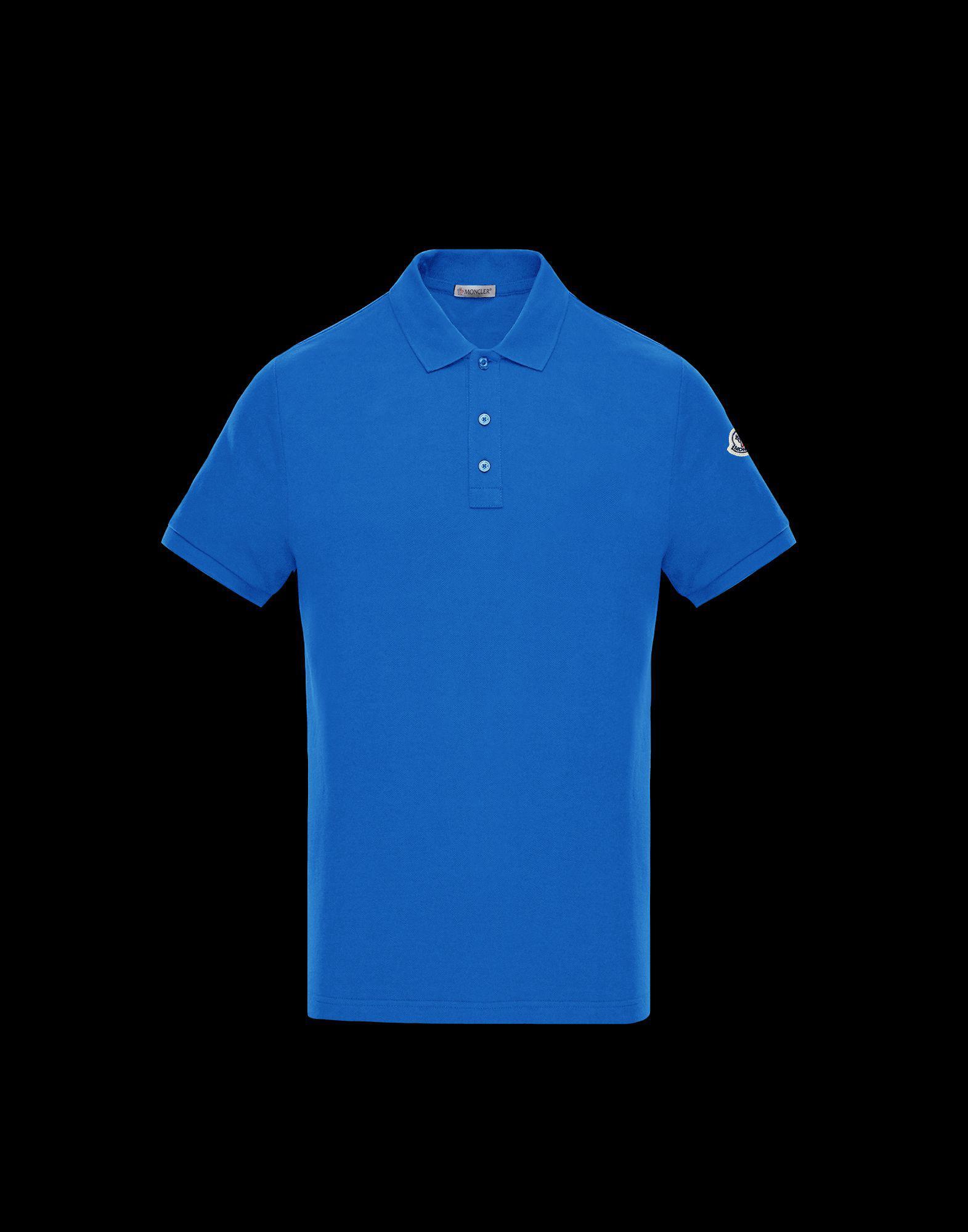 ba38a5ce301d Lyst - Moncler Polo Shirt in Blue for Men