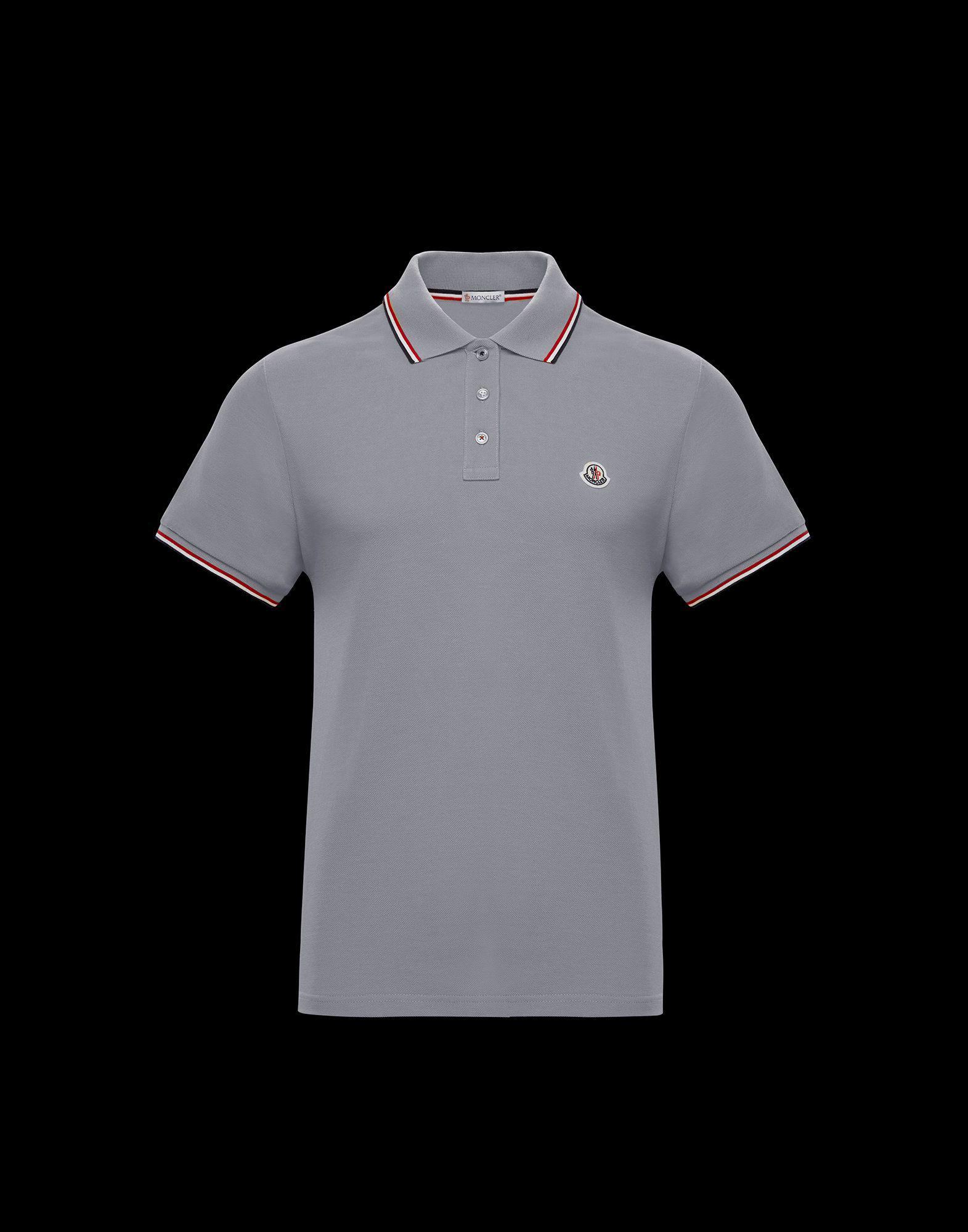 4334eda43 Lyst - Moncler Polo Shirt in Gray for Men