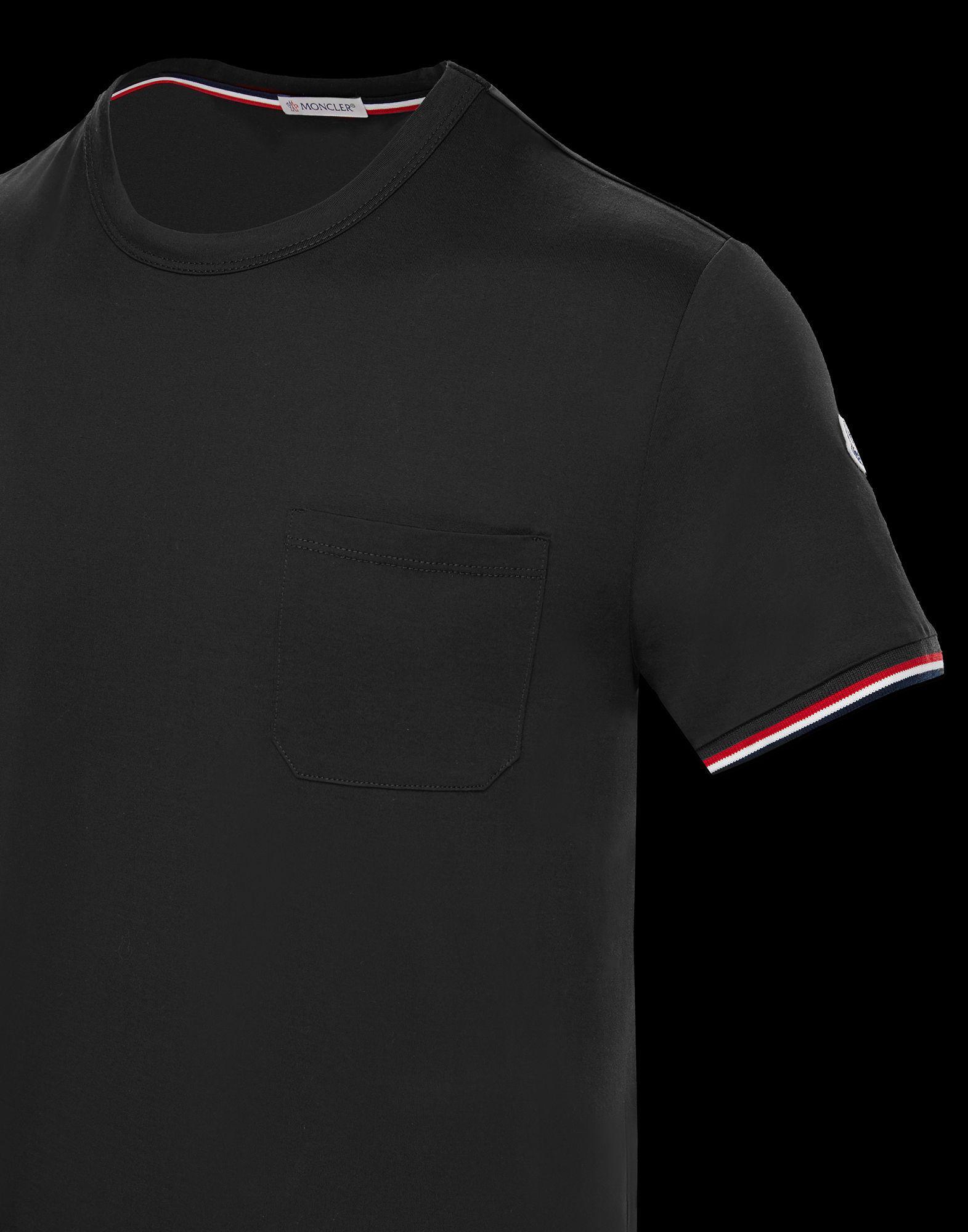 eec9f63b5 Moncler T-shirt in Black for Men - Lyst