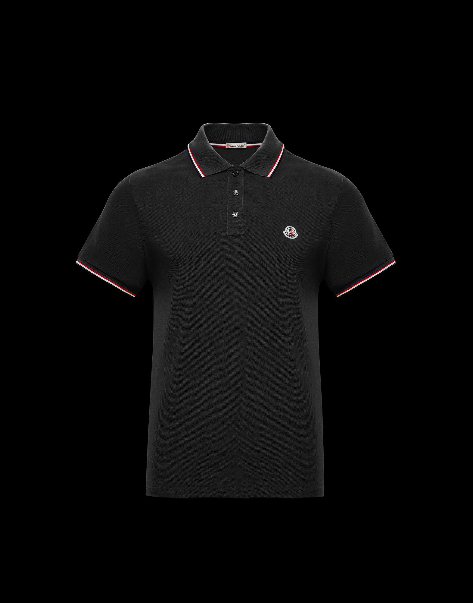 f1d2499f1 Lyst - Moncler Polo Shirt in Black for Men