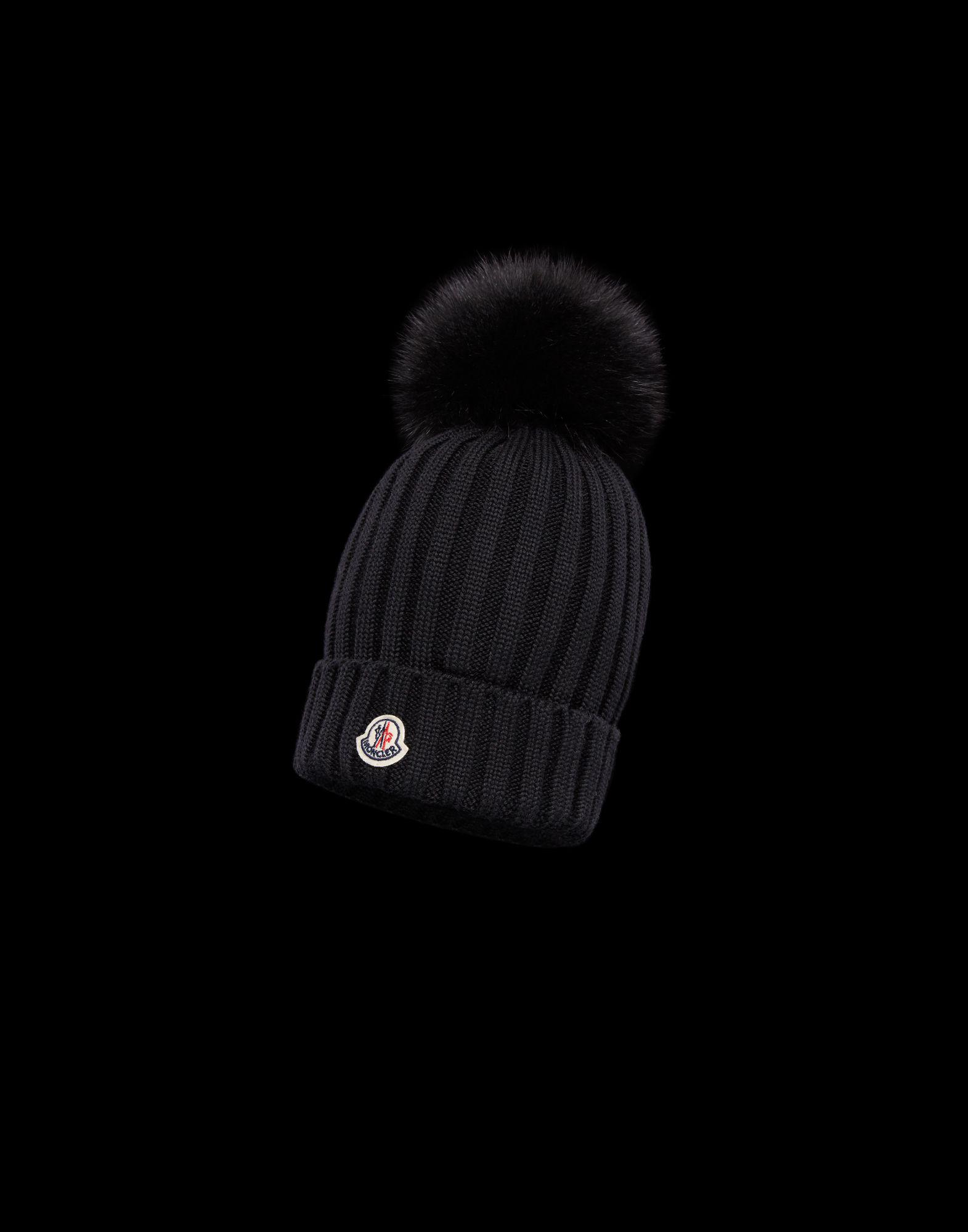 23eaa43f8bd Moncler Hat in Black - Save 36% - Lyst