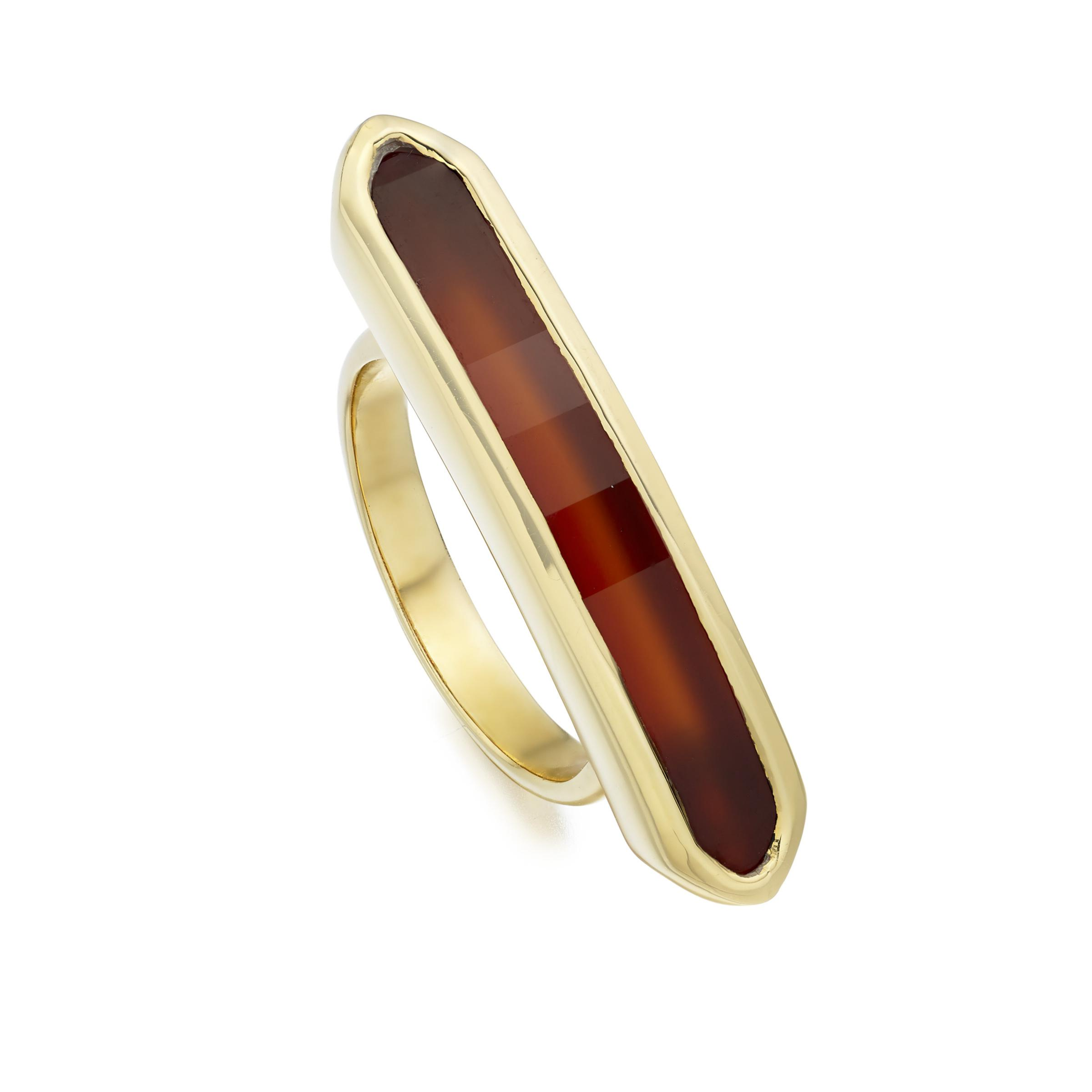 Monica Vinader Woman Baja Precious 18-karat Rose Gold Vermeil Ruby Ring Red Size 6 Monica Vinader hKudv