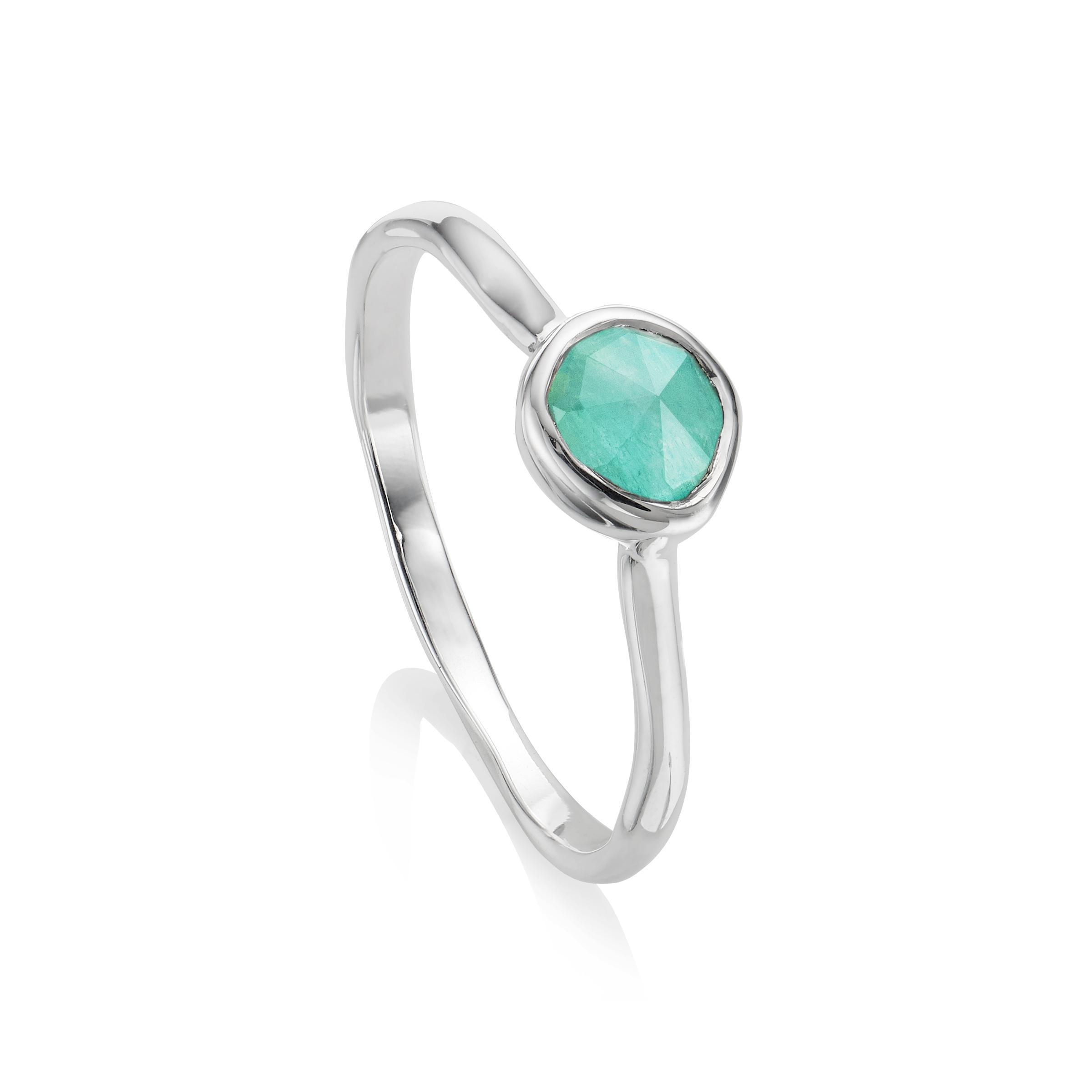 Sterling Silver Siren Small Stacking Ring Kyanite Monica Vinader w5MFUG