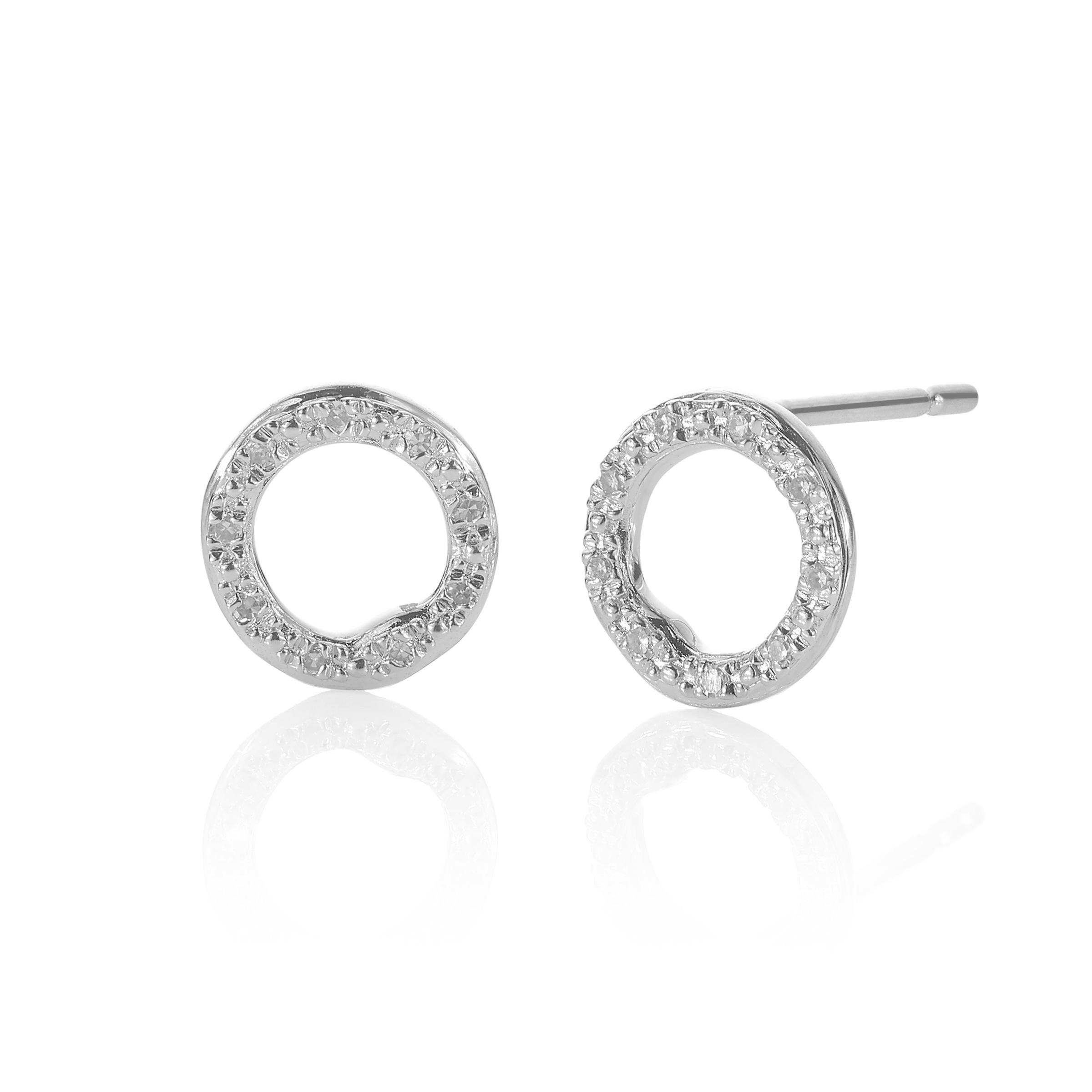 circle mizana products collections jewelry snake diamond earrings