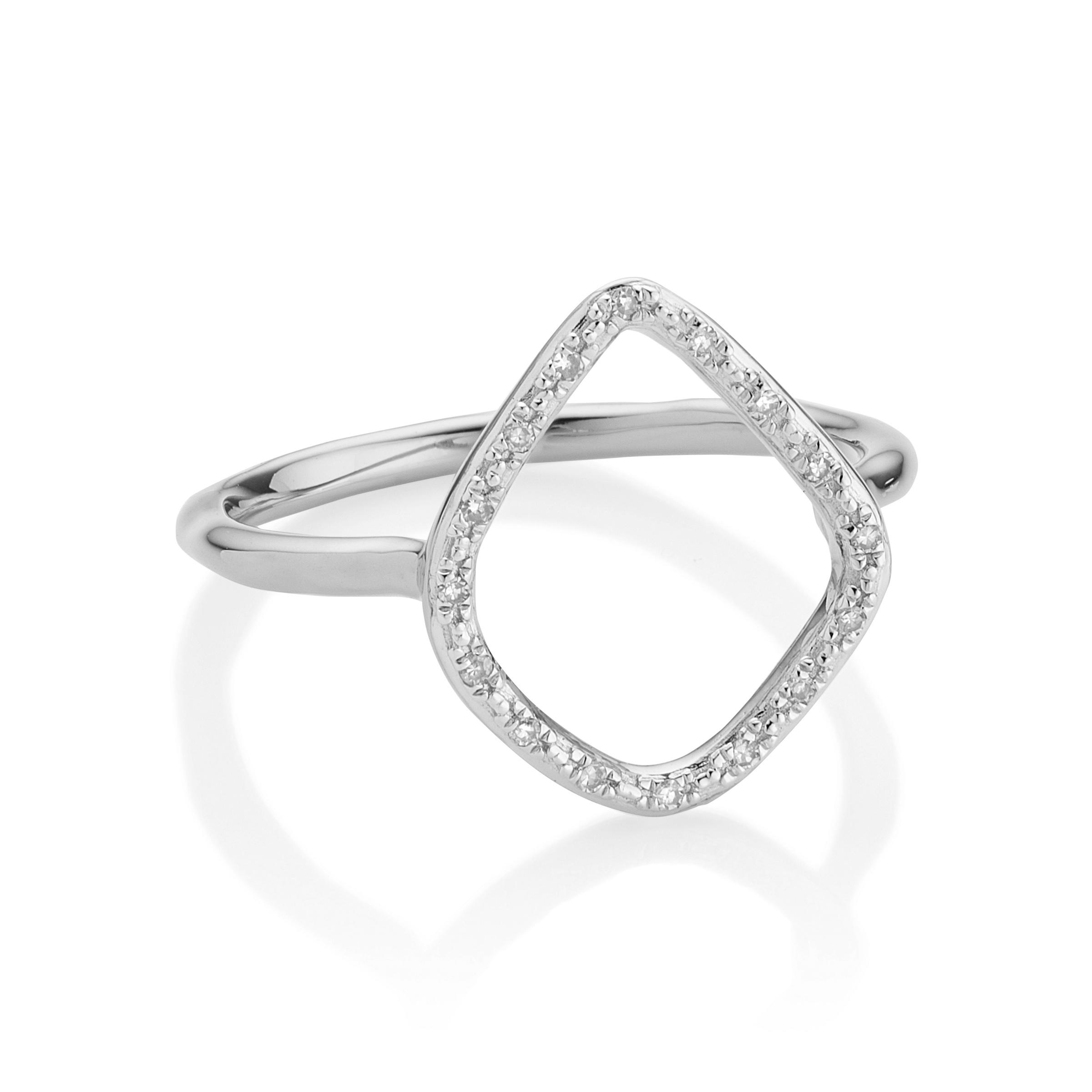 Riva Diamond Hoop Earrings, Rose Gold Vermeil on Silver Monica Vinader