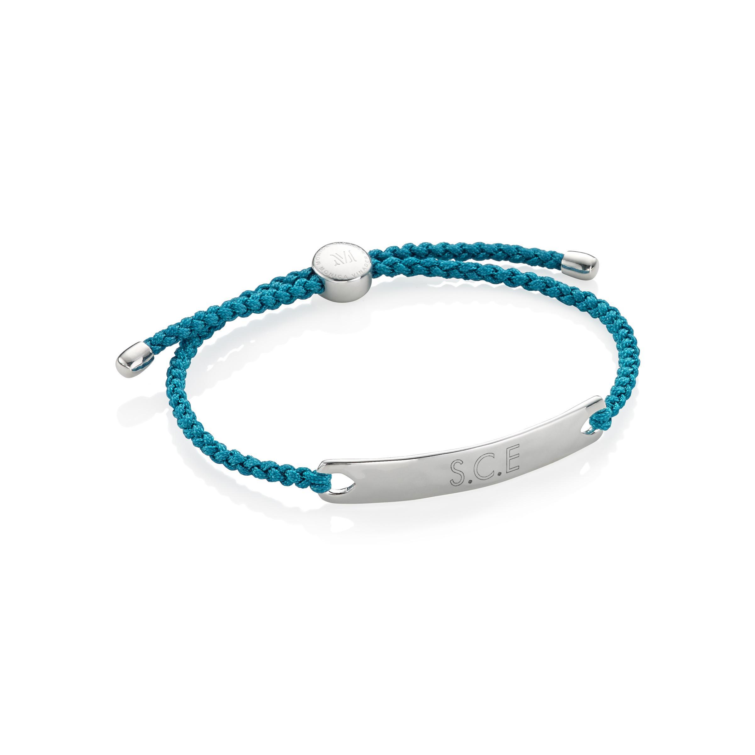 Linear Mens Friendship Bracelet, Sterling Silver Monica Vinader