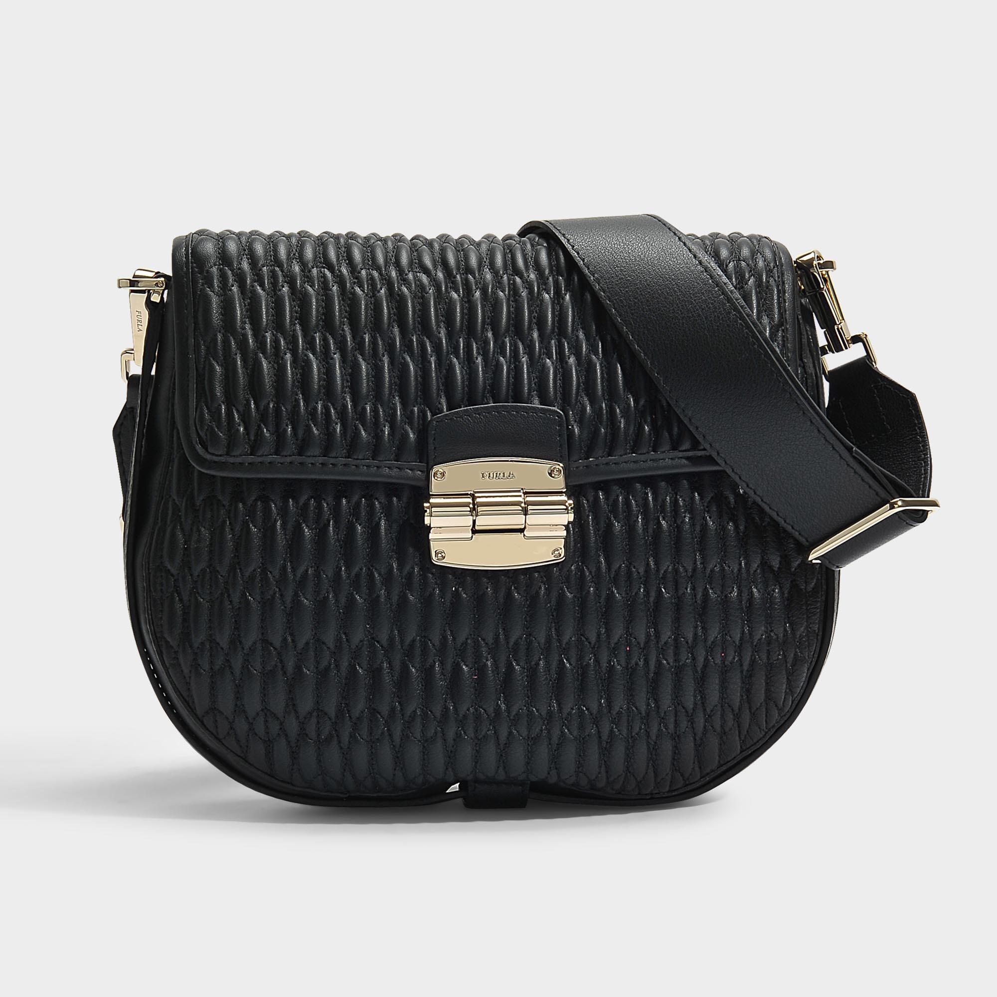 27f5db09982c Furla Club S Crossbody Bag in Black - Lyst