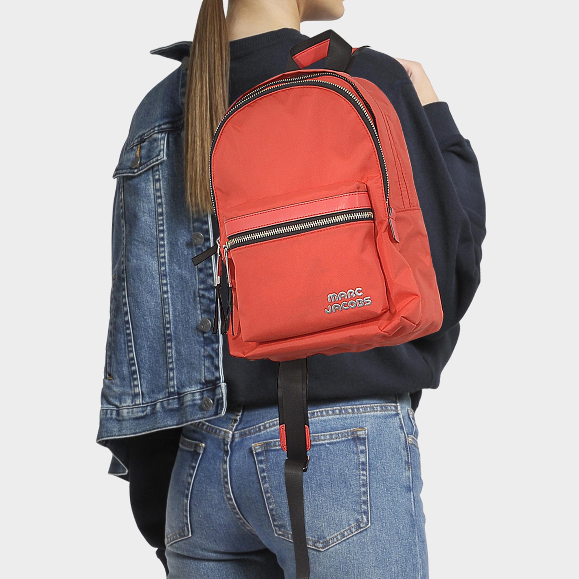 Marc Jacobs Medium Trek Pack Backpack In Poppy Red Nylon in Red - Lyst 487fc1ca2561f