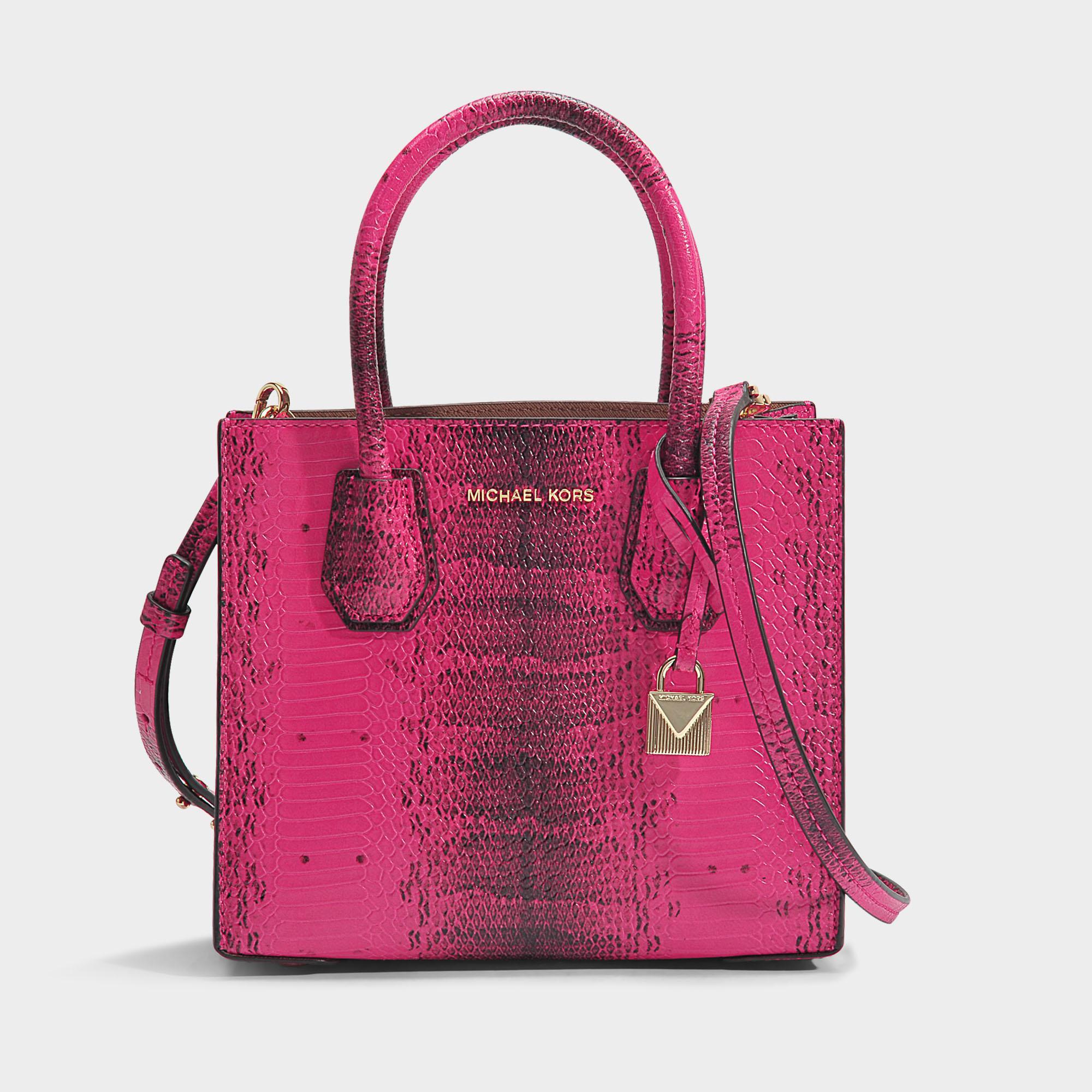 445fad46a0ef MICHAEL Michael Kors Mercer Medium Messenger Bag In Ultra Pink ...
