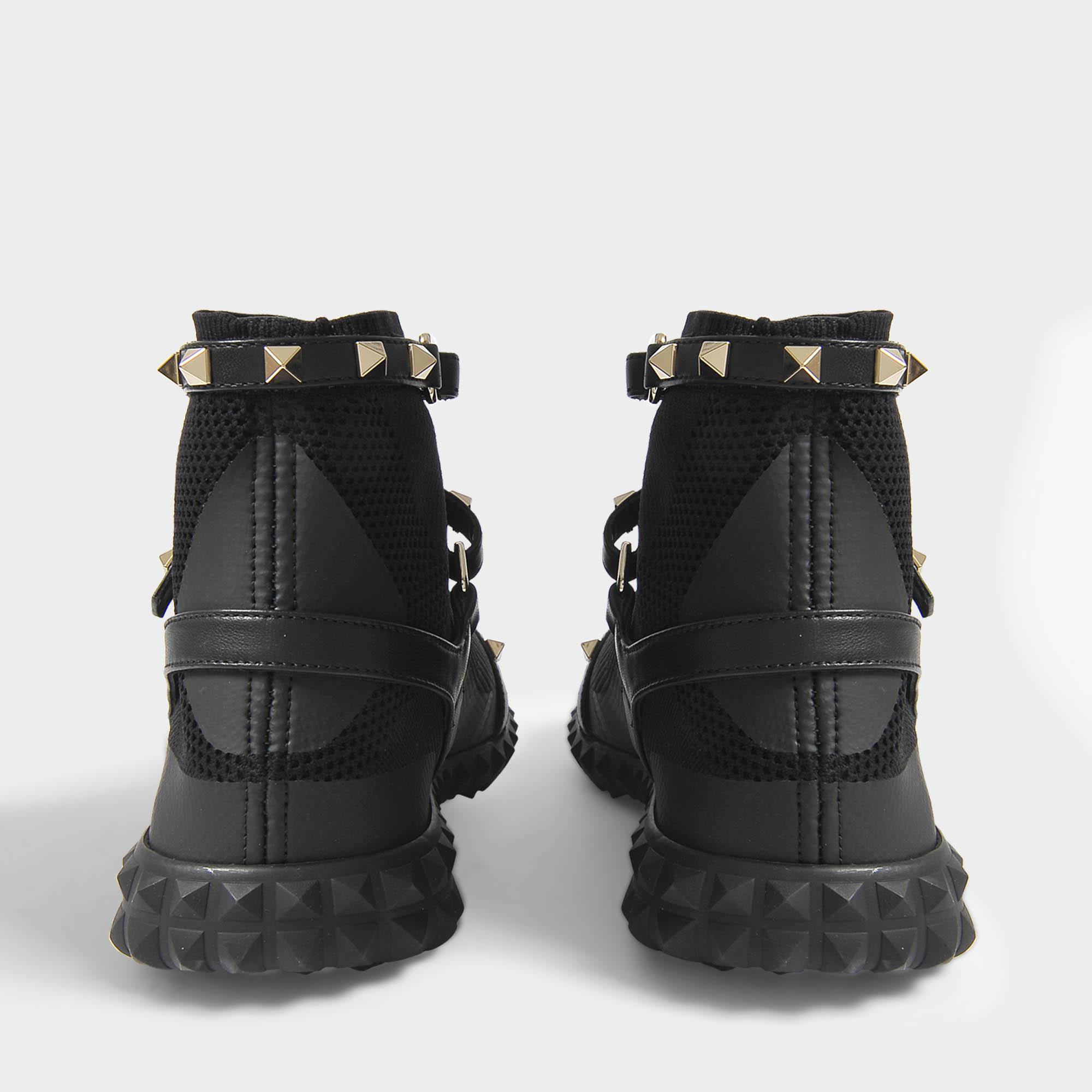 new arrival 3eeab 7f943 Lyst Bodytech In Rockstud Black Valentino Sneakers Hightop N
