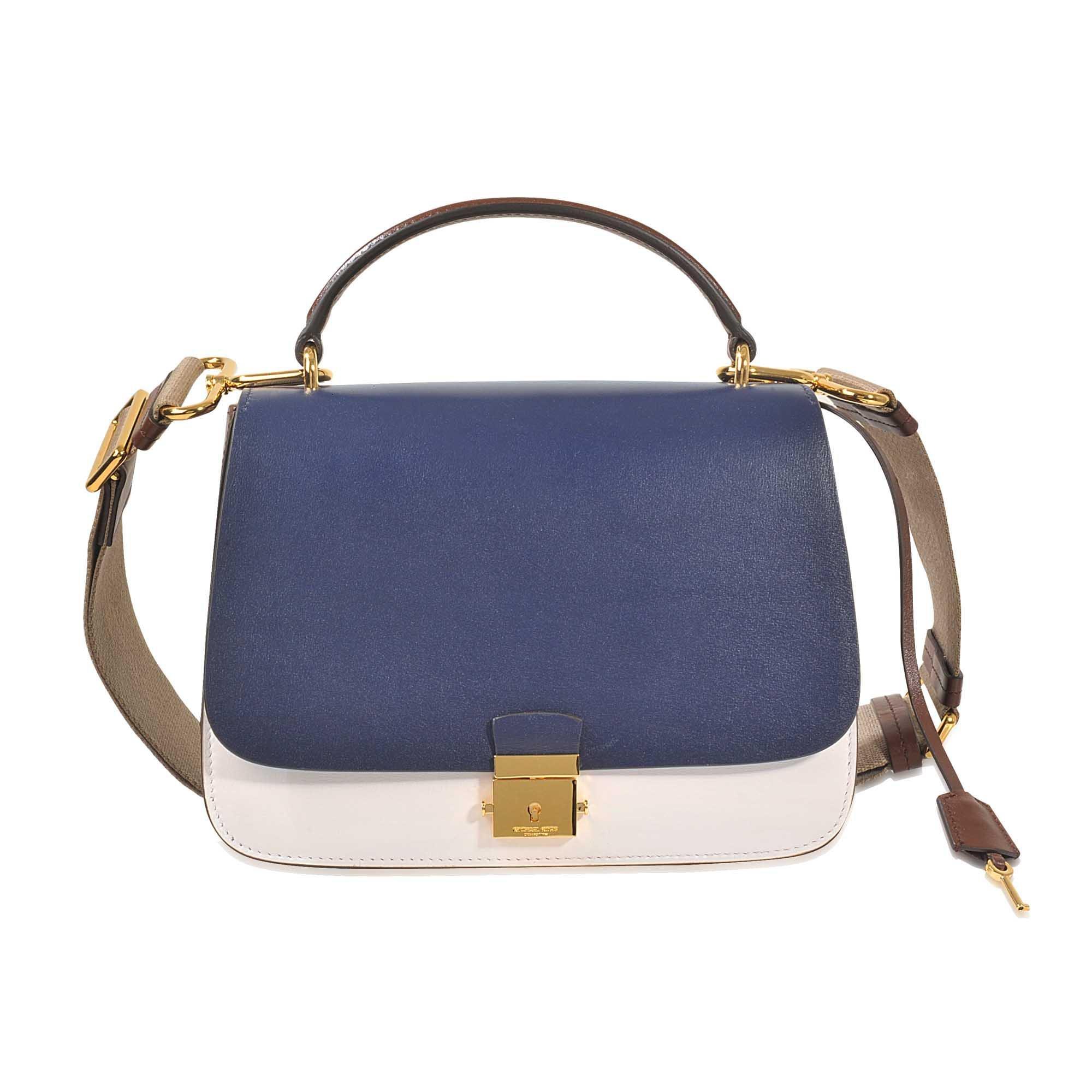 Lyst Michael Kors Mia Top Handle Bag With Guitar Strap