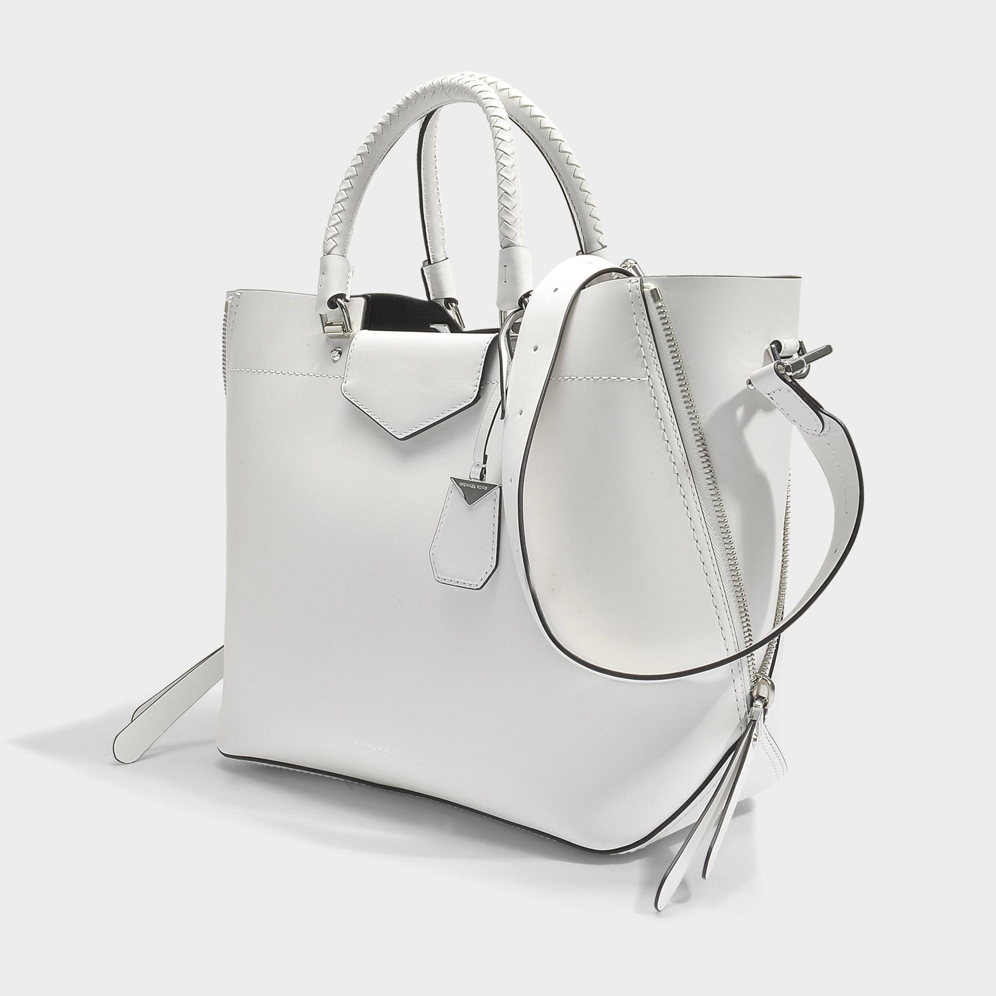 8768eb540477 Lyst - MICHAEL Michael Kors Blakely Large Tote Bag In Optic White ...
