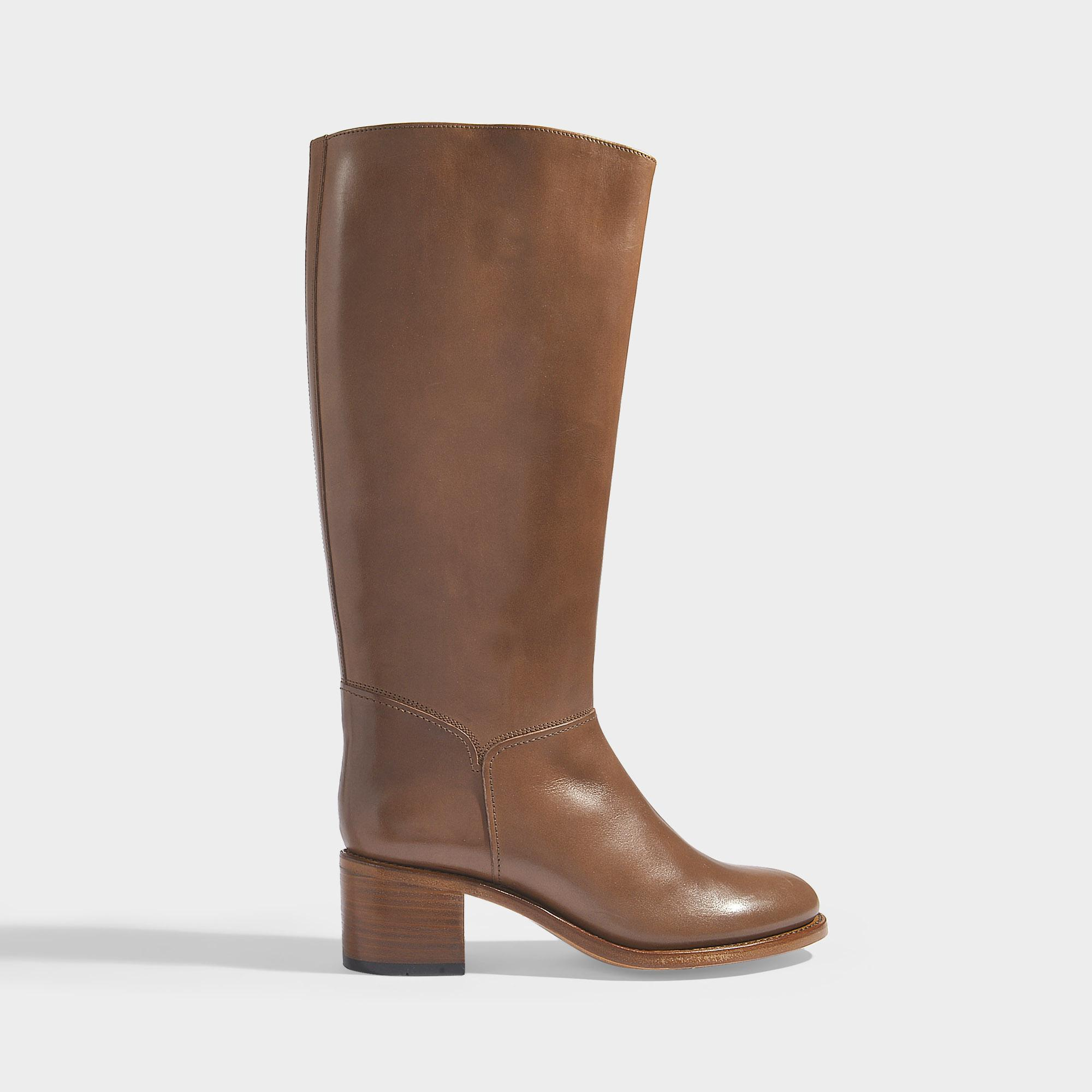 Long C In Brown in P Brown Smooth A Boots Calfskin Lyst Dark Iris XqxgnwU