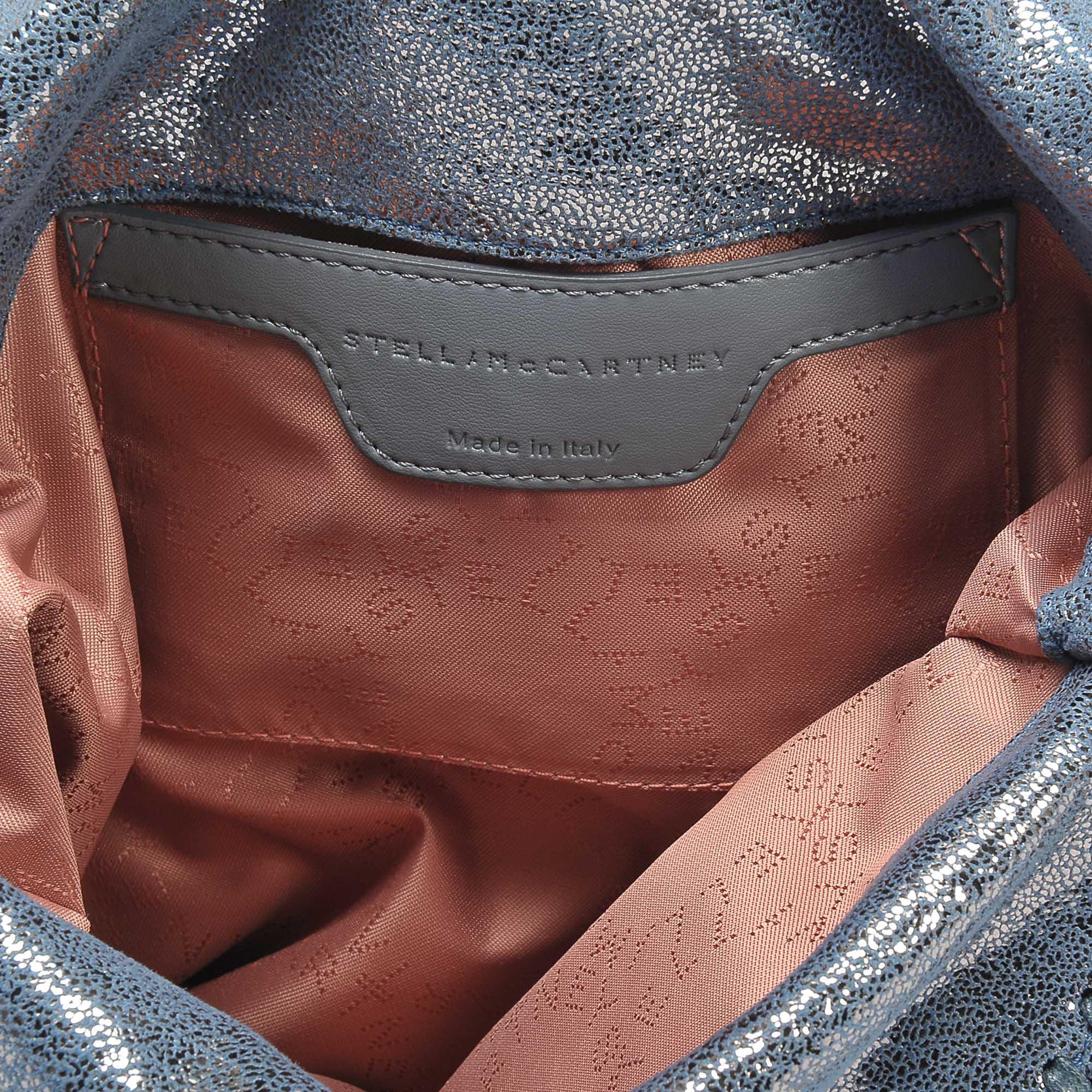 da2ff32152c3 Lyst - Stella McCartney Metallic Shaggy Deer Falabella Mini Tote Bag ...