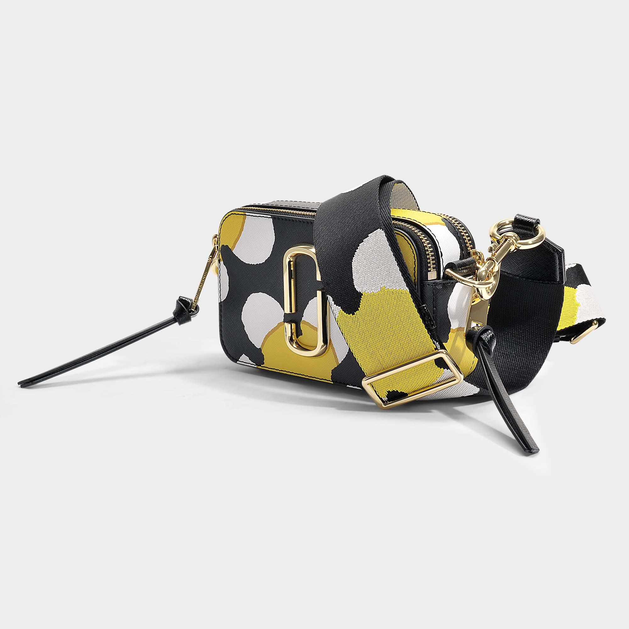 Snapshot Daisy Crossbody Bag in Yellow Split Cow Leather with Polyurethane Coating Marc Jacobs 3PpJiv