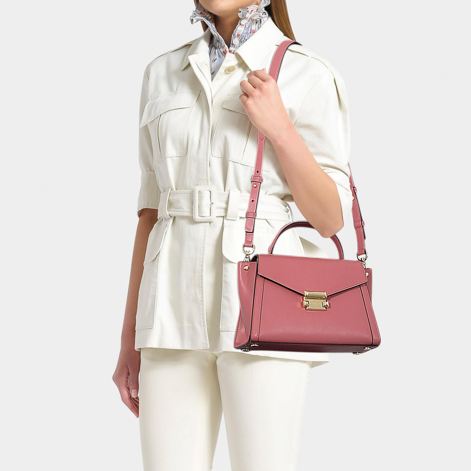 7ed49bc1f7b7 MICHAEL Michael Kors - Pink Whitney Medium Top Handle Satchel Bag In Rose  Calfskin - Lyst. View fullscreen