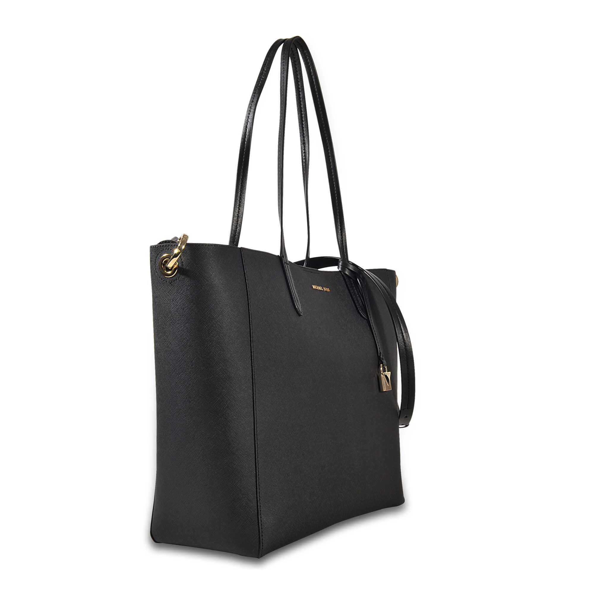 5f774a73c9b1 Lyst - MICHAEL Michael Kors Penny Lg Convertible Tote in Black