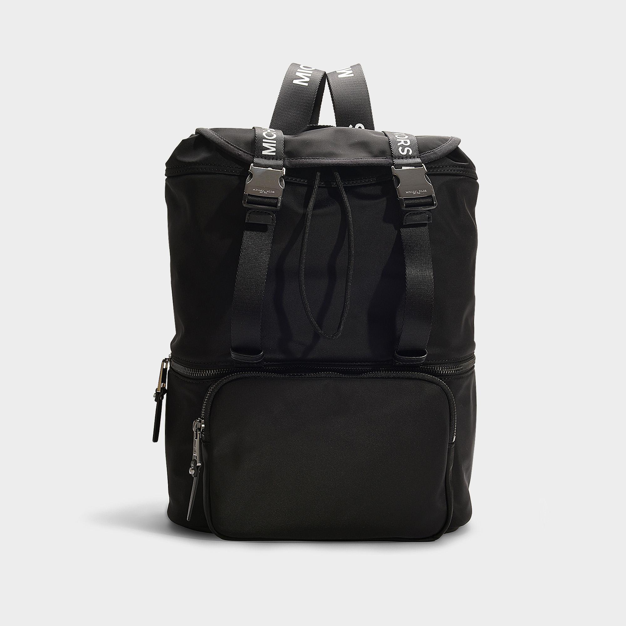 ce3c6b68d MICHAEL Michael Kors The Michael Large Flap Backpack In Black Nylon ...
