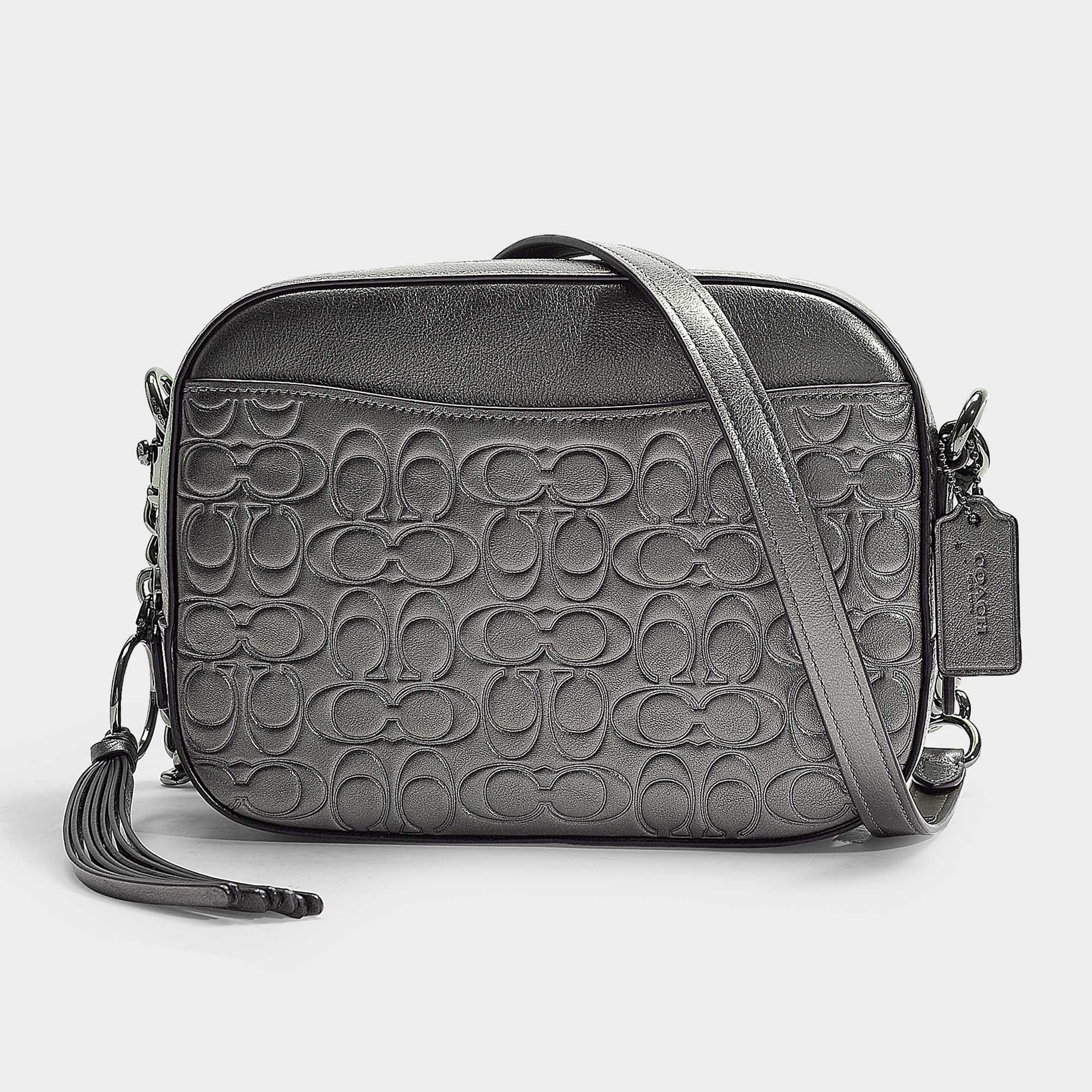 1f6ea4ffa COACH Metallic Signature Leather Camera Bag - Lyst