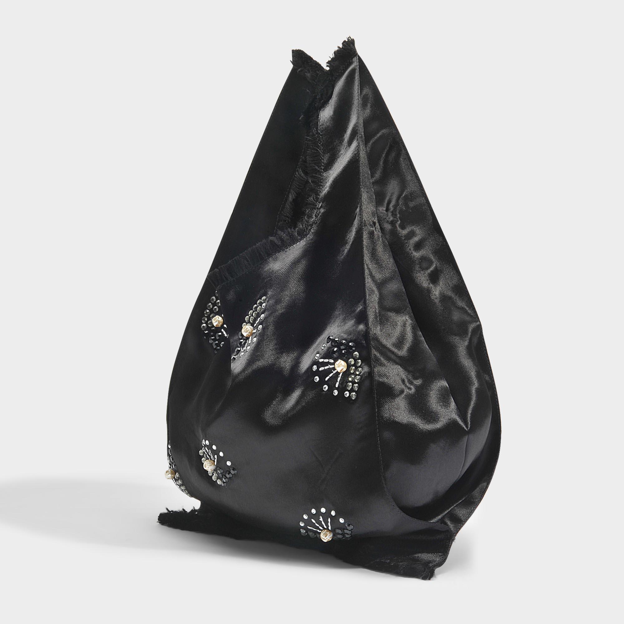 0c7caeea3c Lyst - Sac la poche rykiel en satin noir Sonia Rykiel en coloris Noir