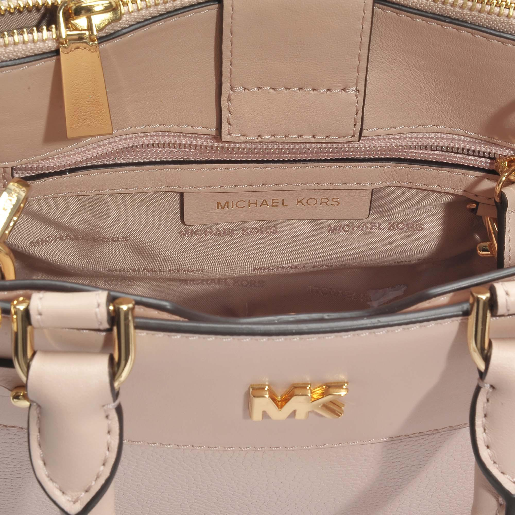 c884f938b5e945 MICHAEL Michael Kors Mott Uptown Mini Messenger Bag In Soft Pink ...