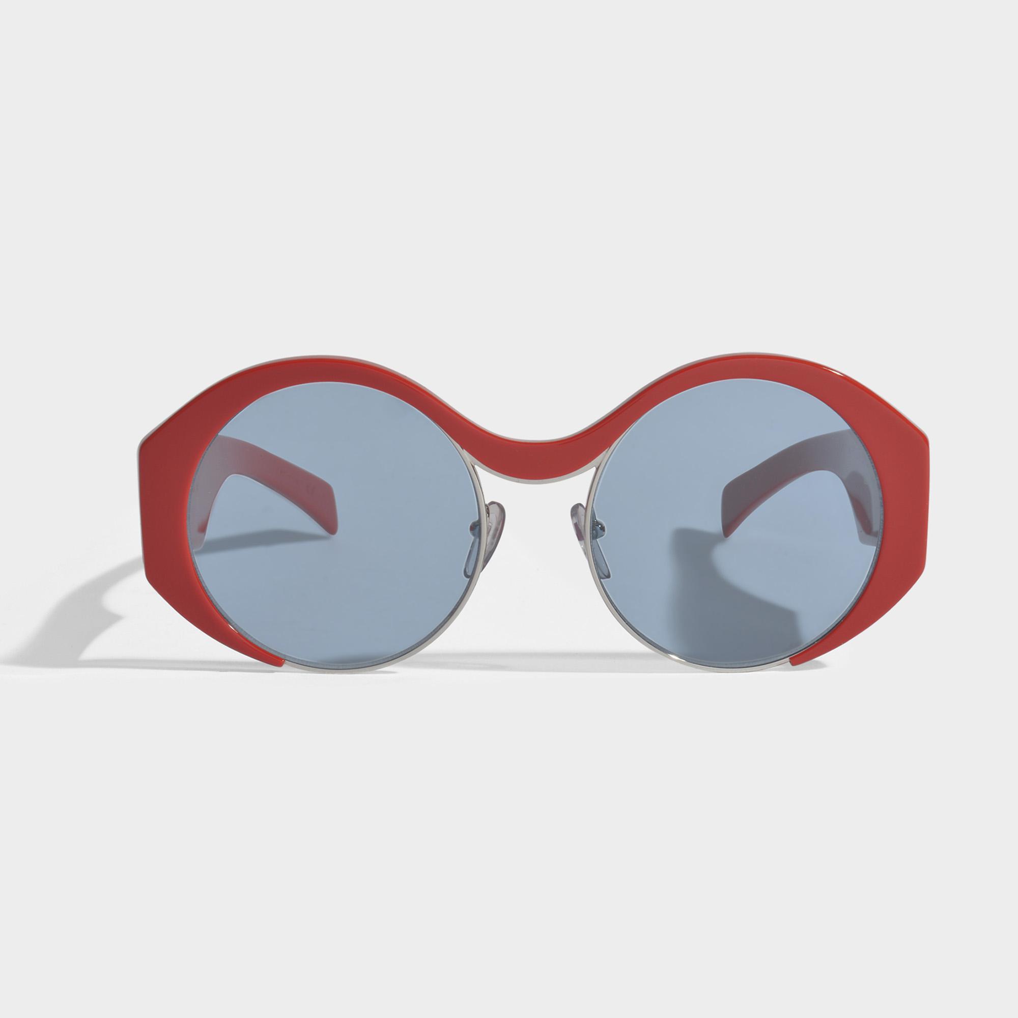 Show Round Sunglasses in Burnt Acetate and Metal Marni MNIG3mKGsD