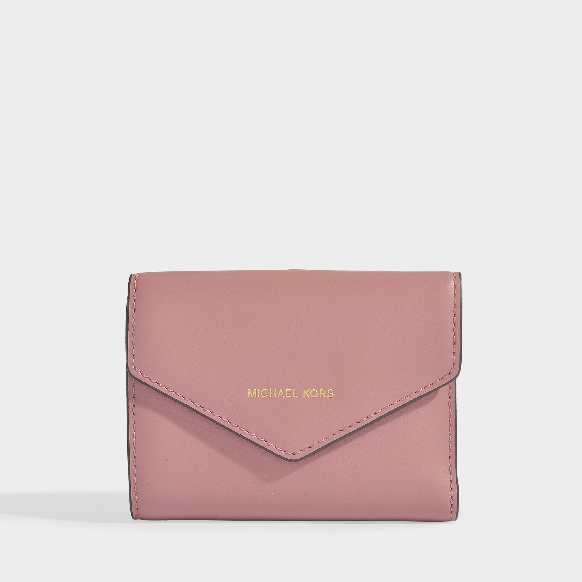 9fea19494b9d2 Lyst - MICHAEL Michael Kors Blakely Small Card Wallet In Rose ...