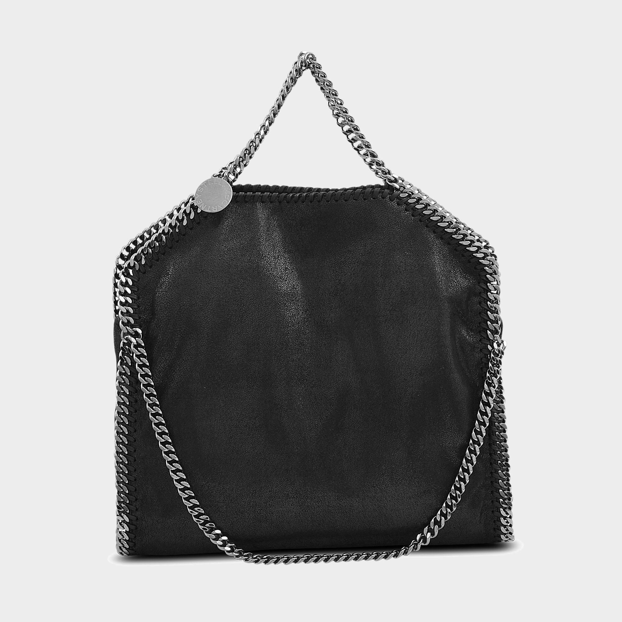 Stella McCartney. Women s Shaggy Deer Falabella Three Chains Bag In Black Eco  Leather 9c65dbaa36760