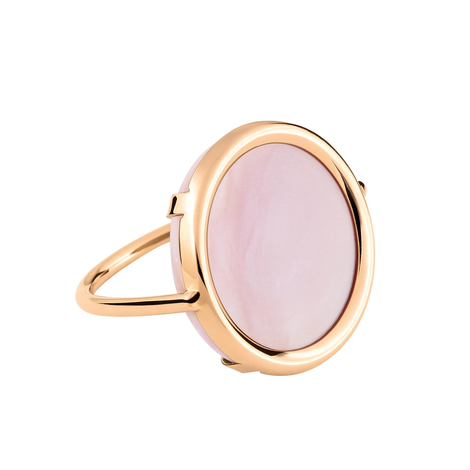 Ginette NY Mother of Pearl 18-karat rose gold Disc ring 6njAFk