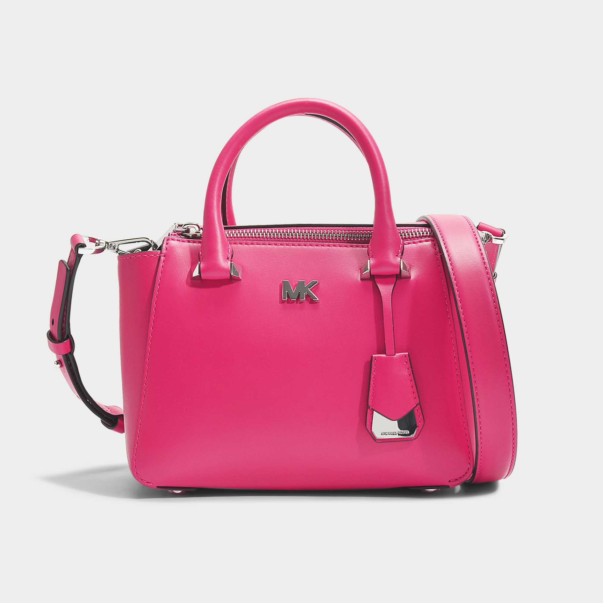 f7674100501b Lyst - MICHAEL Michael Kors Nolita Mini Messenger Bag In Ultra Pink ...