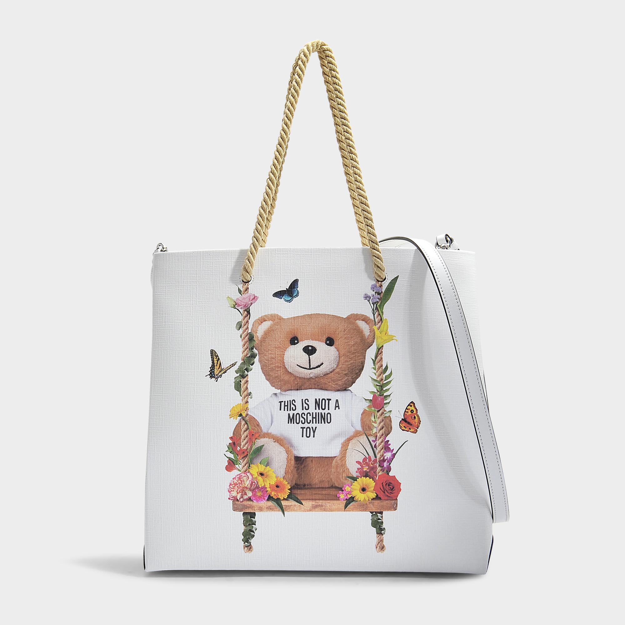 Affordable Cheap Online Teddy Shoulder Bag in Pink Calfskin Moschino Shop For Online kqH40v