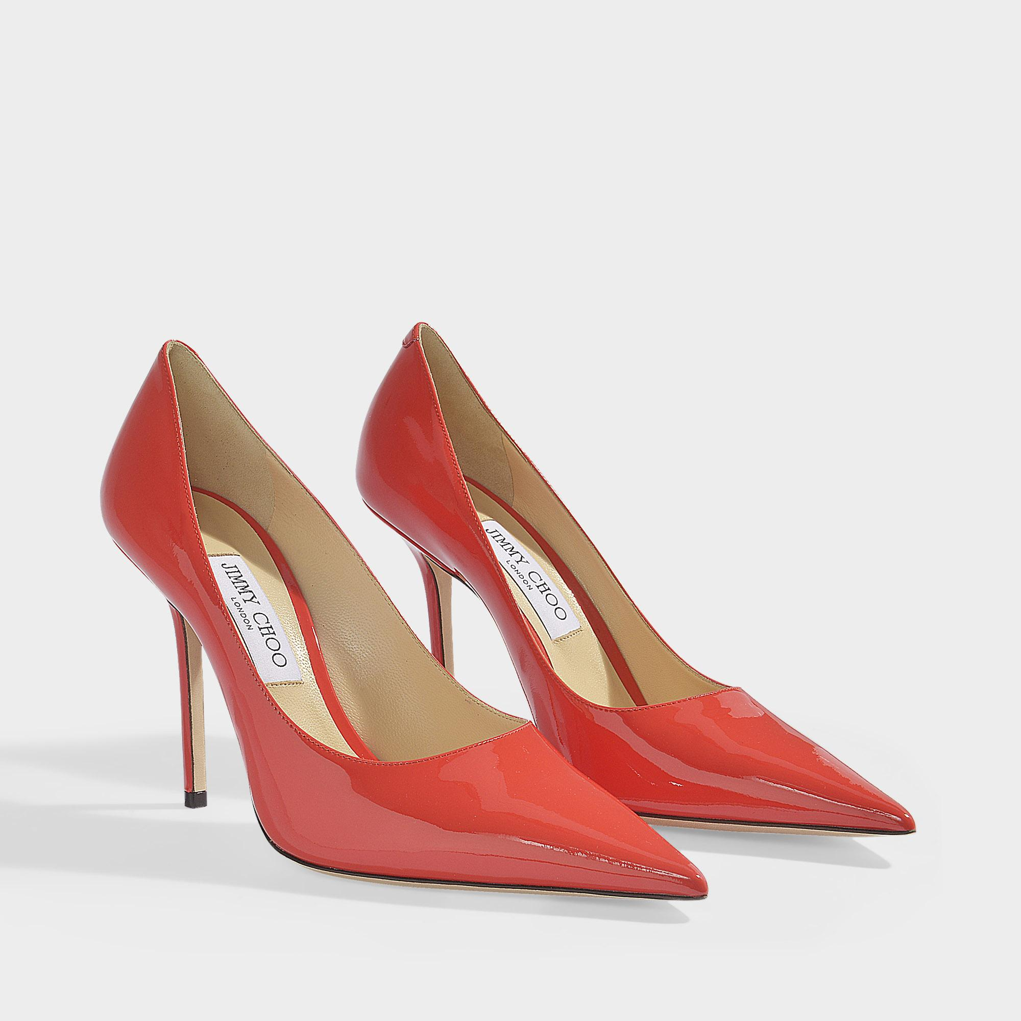 5ce1e9d6d Jimmy Choo - Red Love 100 Pumps In Chilli Patent Leather - Lyst. View  fullscreen