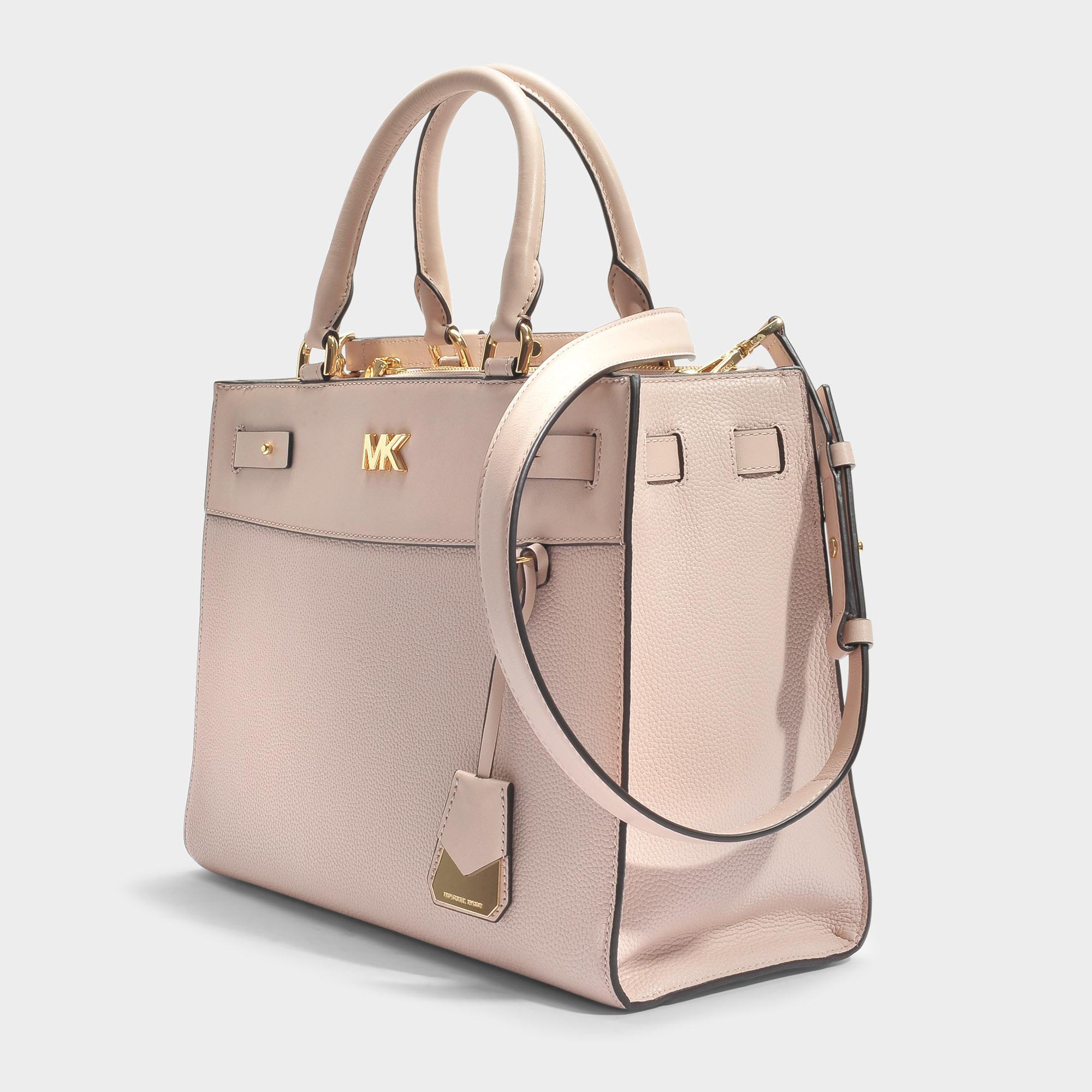 f152570b35eeba MICHAEL Michael Kors Mott Uptown Large Satchel Bag In Soft Pink ...