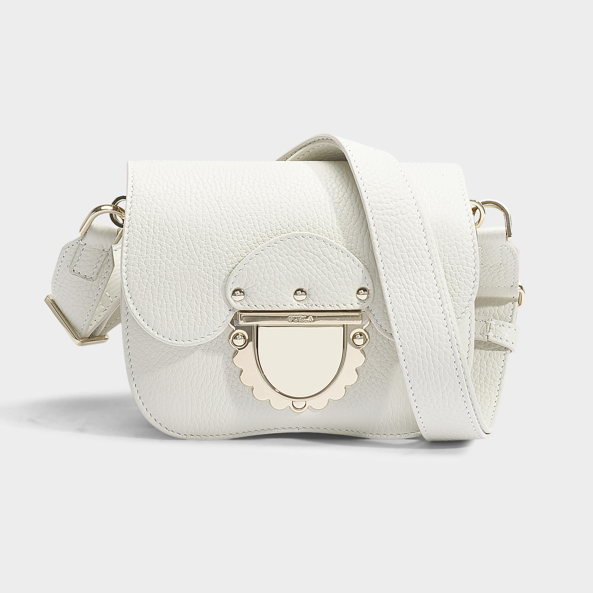 5229031b22 Furla Ducale Mini Crossbody Bag In Petalo Calfskin in White - Lyst