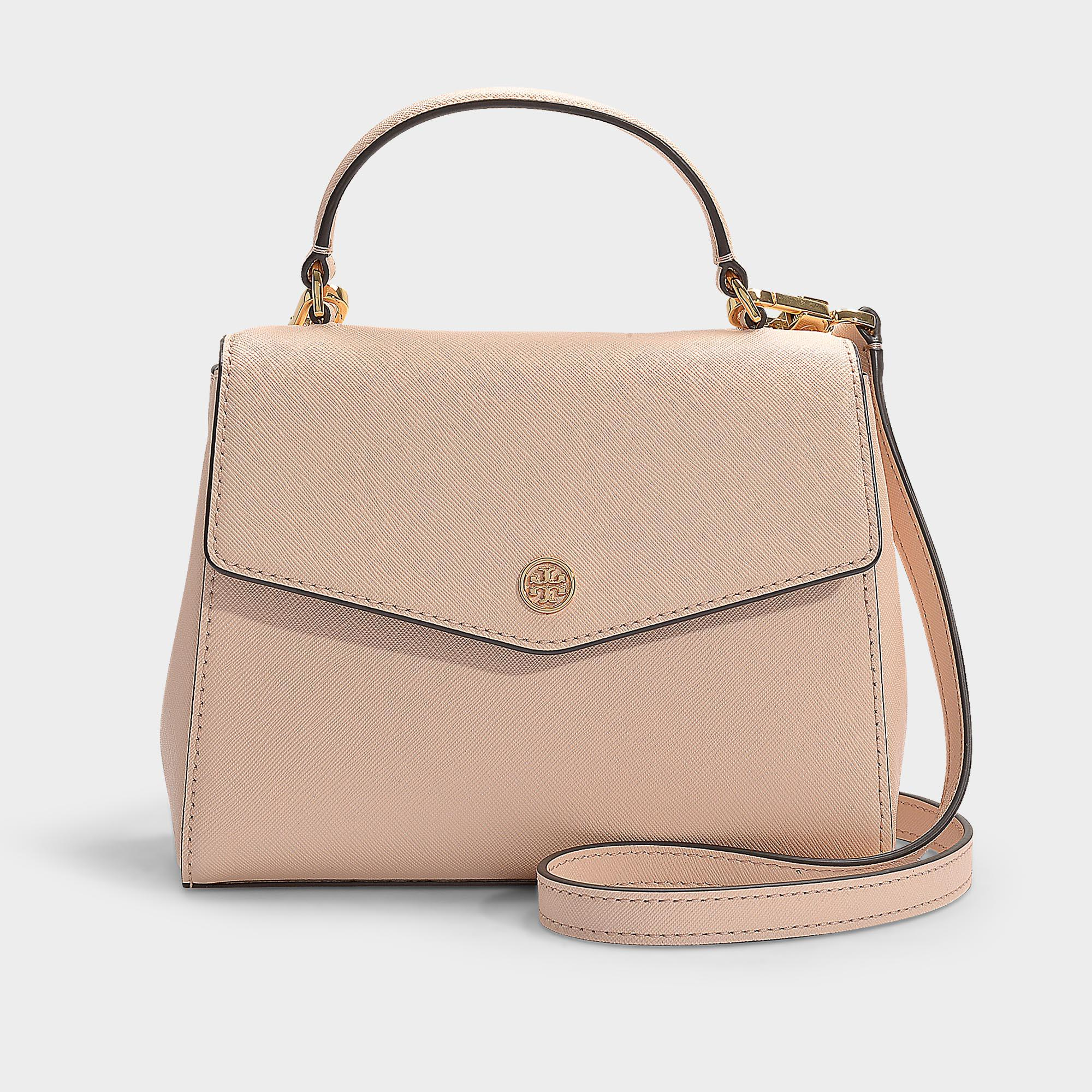 63416d4a5dd0 Lyst - Tory Burch Robinson Small Top-handle Satchel In Pale Apricot ...