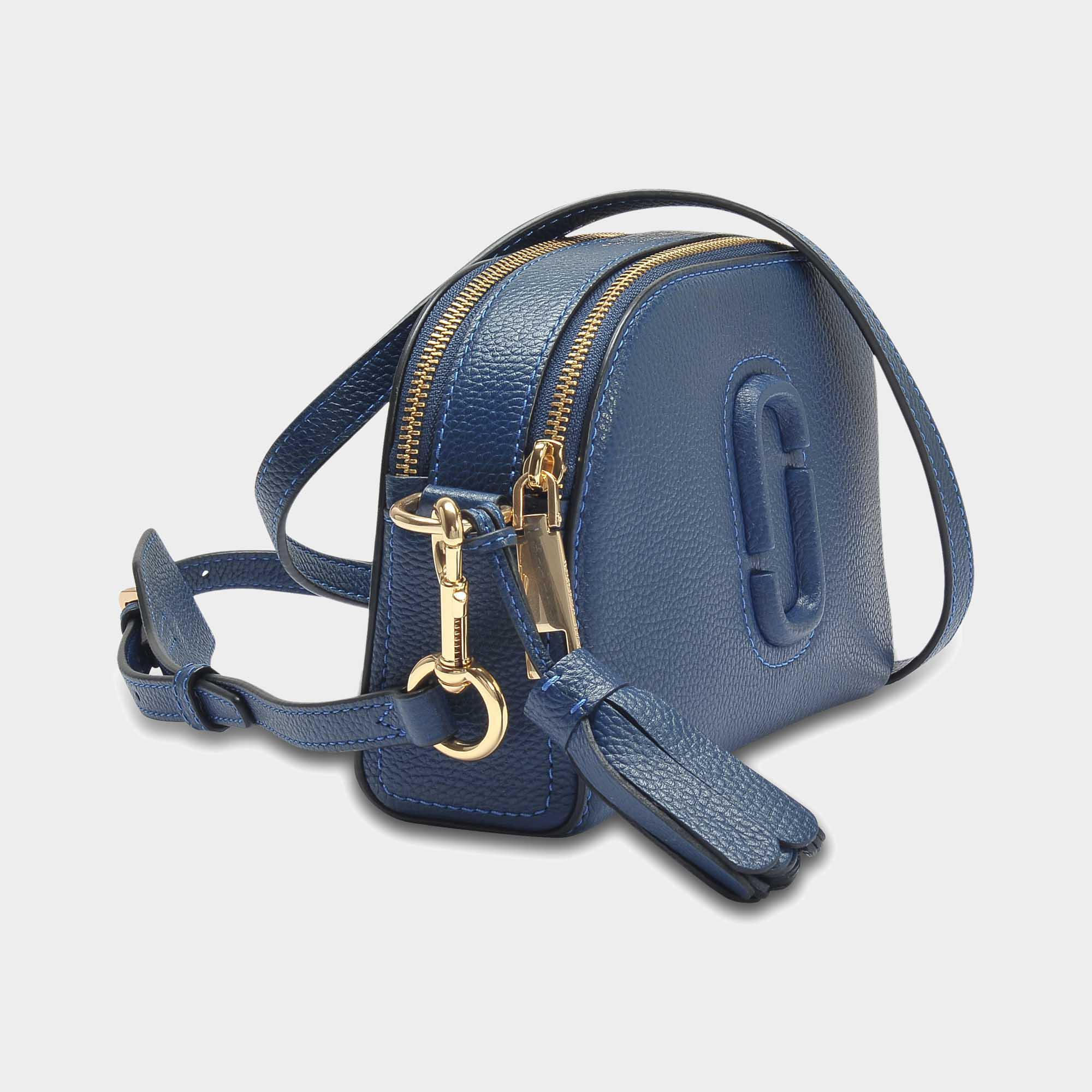 f0c313ee3d2 Marc Jacobs - Shutter Bag In Blue Calfskin - Lyst. View fullscreen