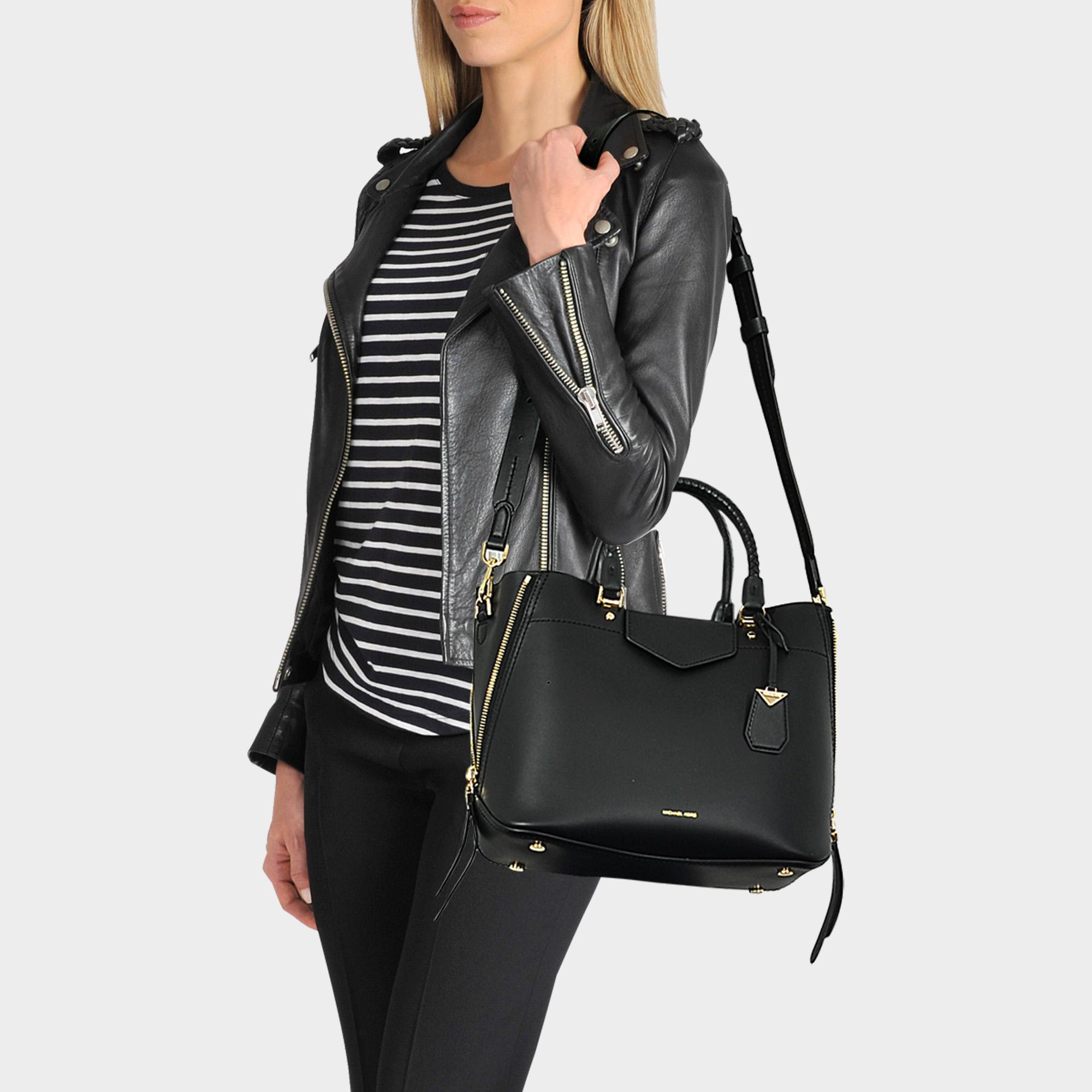 039e7503019e MICHAEL Michael Kors Blakely Medium Tote Bag In Black Viola Leather ...