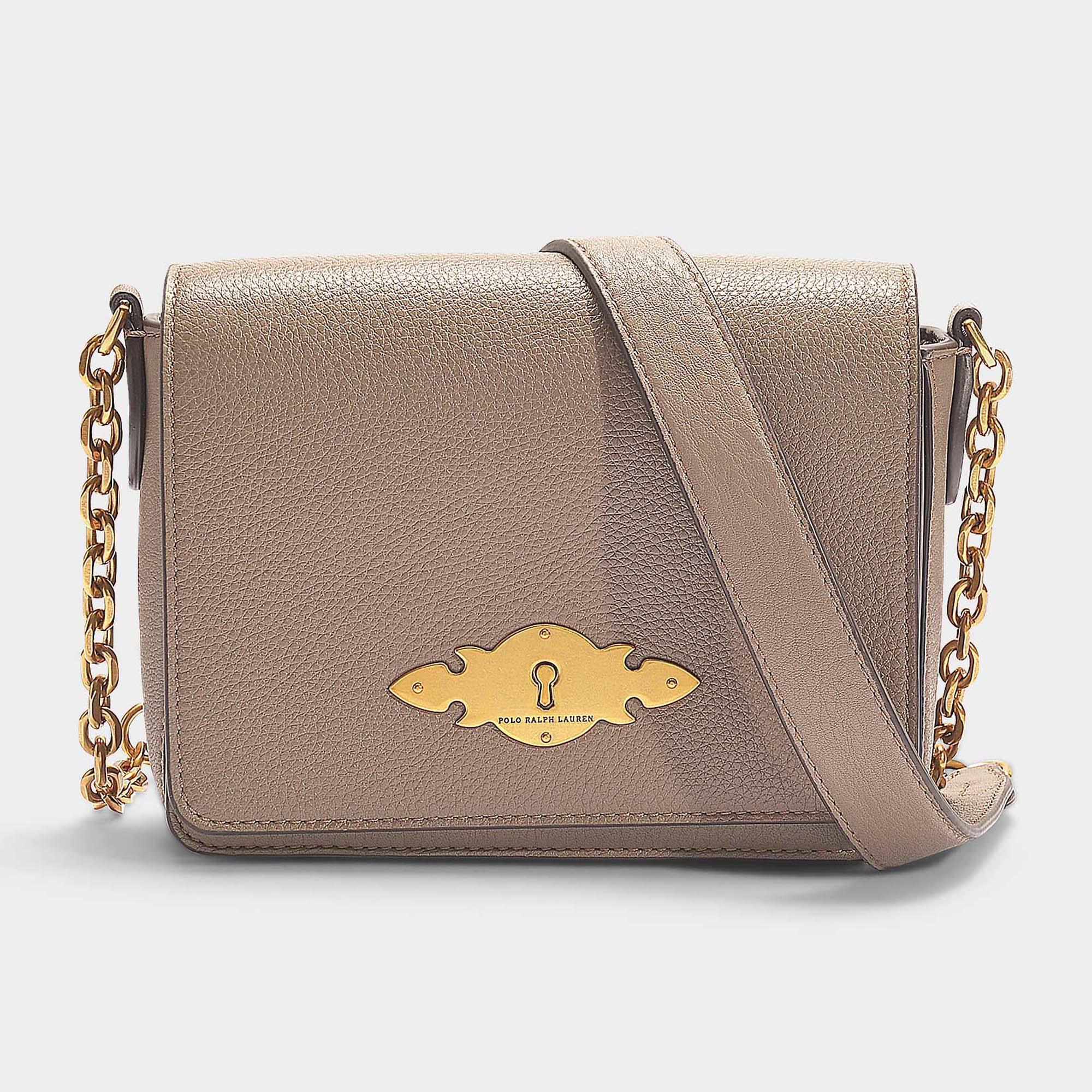 Polo Ralph Lauren Brooke Chain Small Crossbody Bag In Taupe Calfskin ... 970aeac9cb