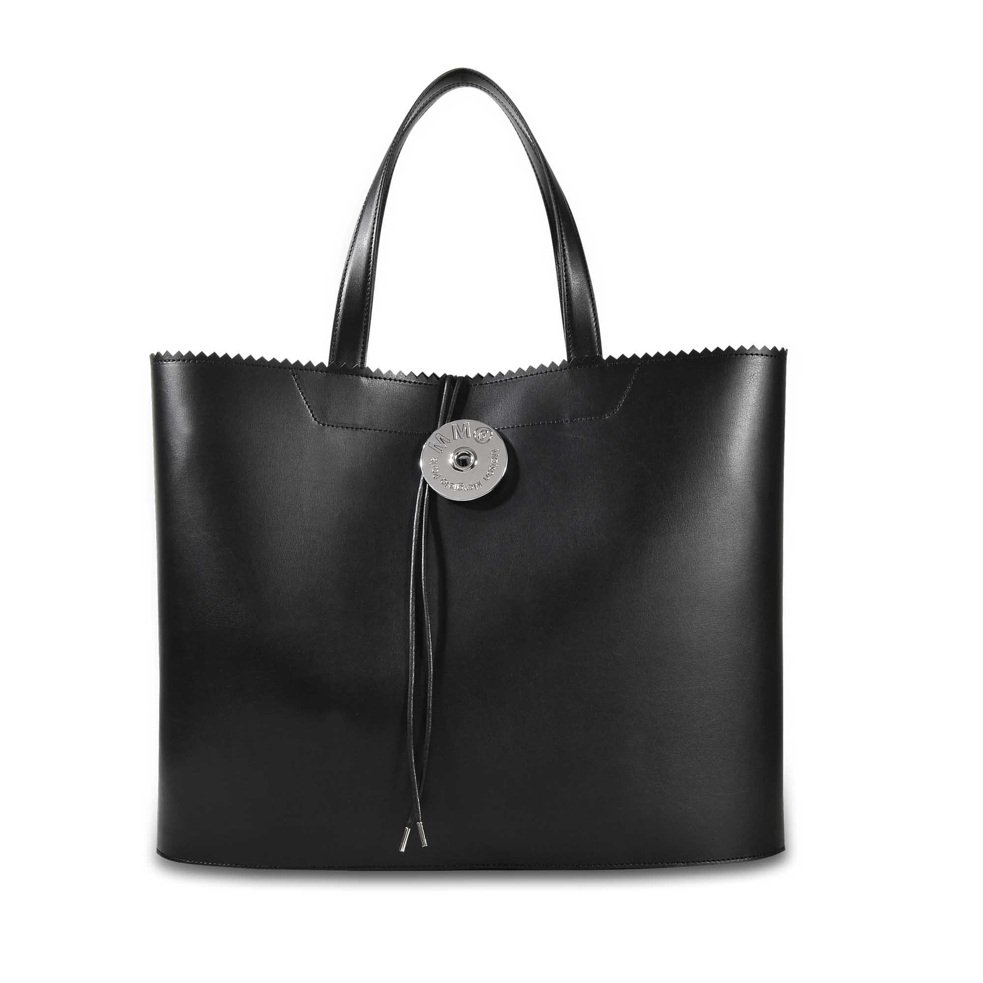 Large Shopper Bag in Black Calfskin Maison Martin Margiela zkyxkK