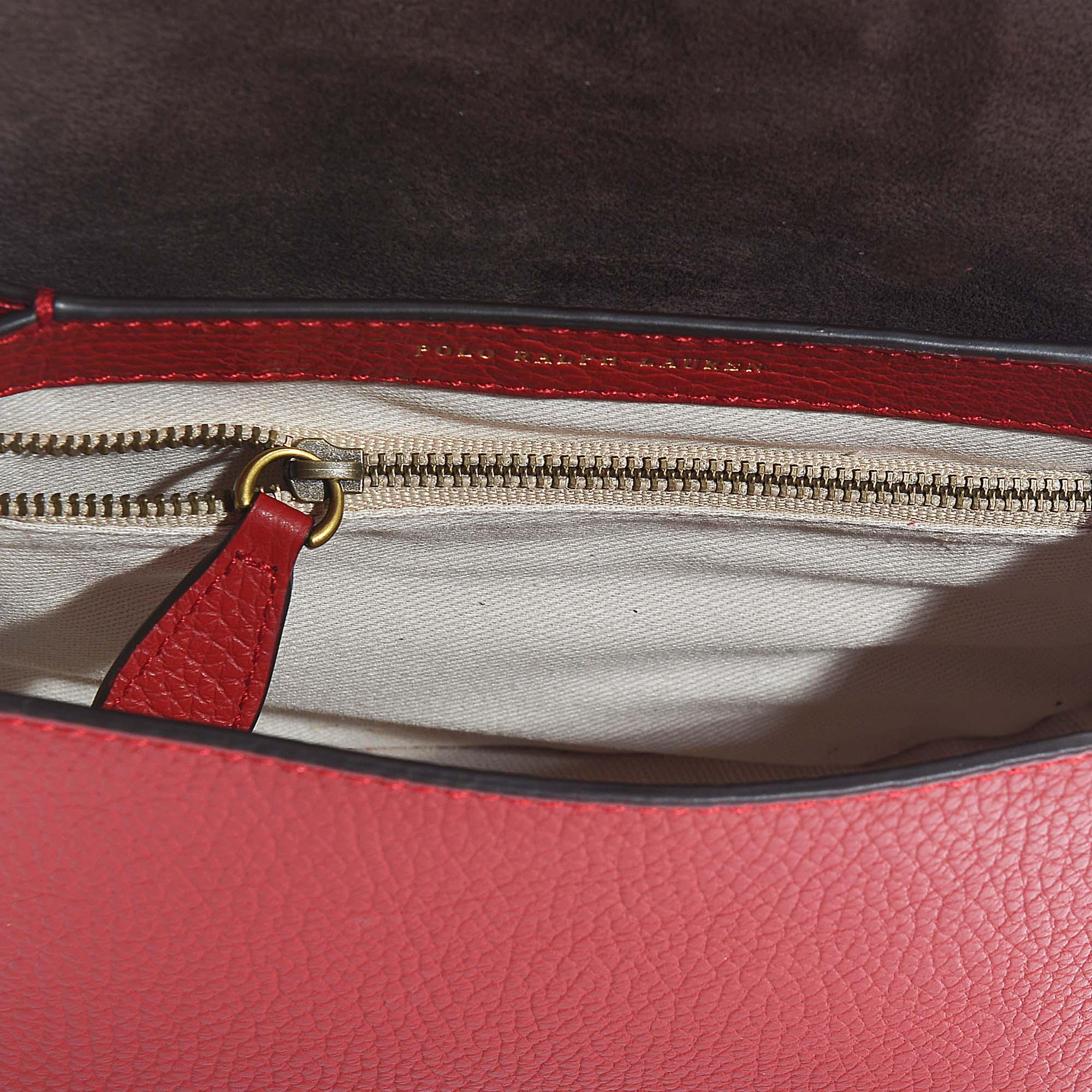 0d43ab9c6a27 Polo Ralph Lauren - Red Lennox Medium Crossbody Bag In Scarlet Pebble  Leather - Lyst. View fullscreen