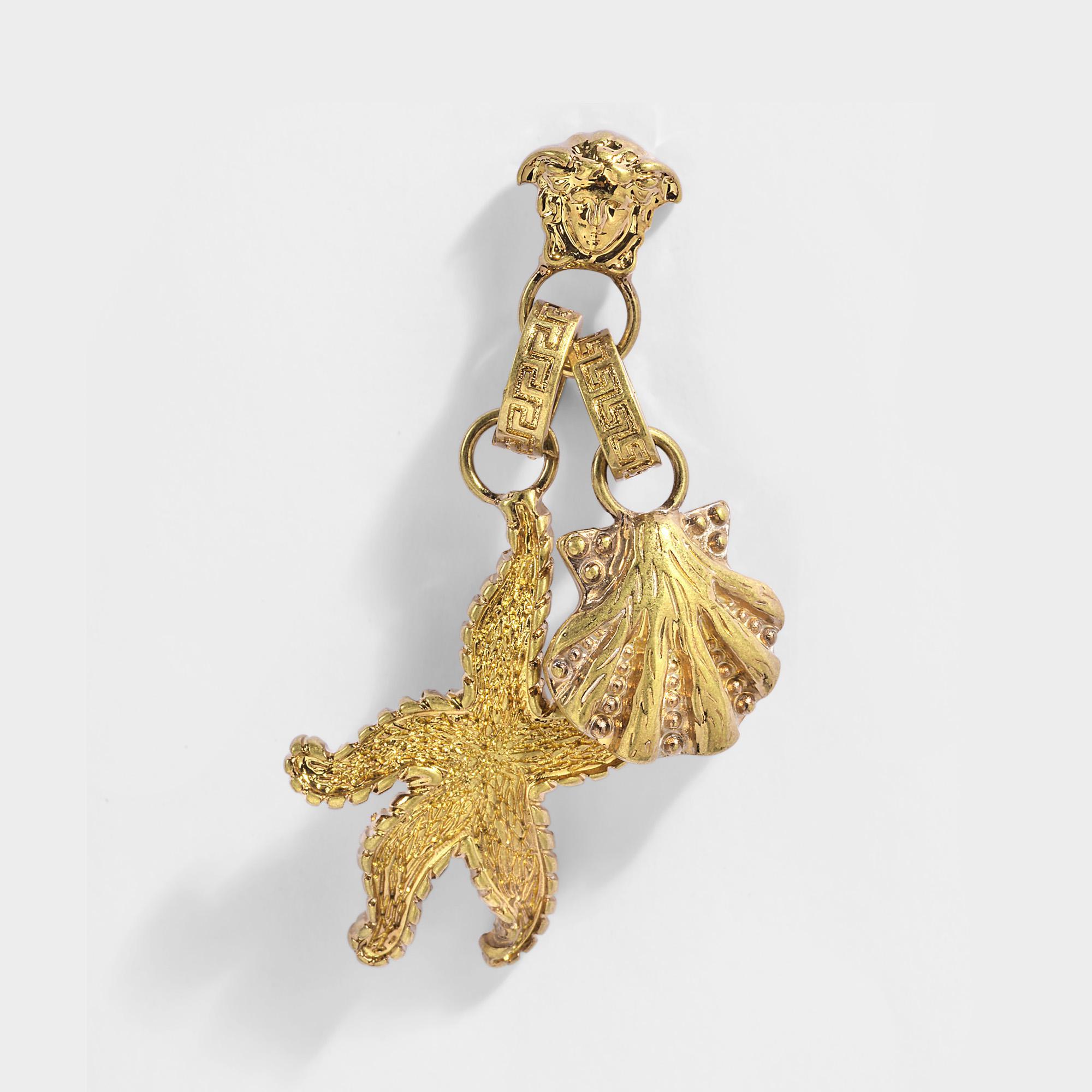 Versace Tribute Trésor de la Mer Necklace in Gold Metal Q8QYsSLBXj