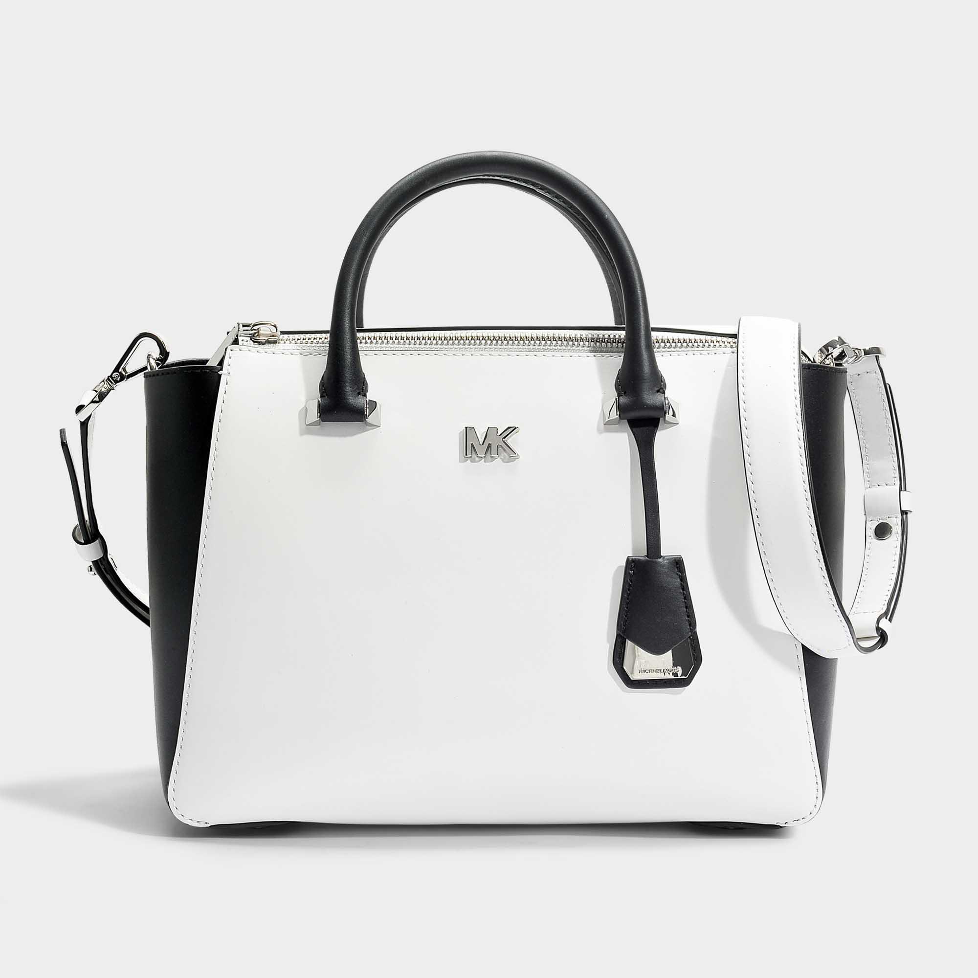 fe473ff4e06575 MICHAEL Michael Kors Nolita Medium Satchel Bag In Optic White And ...