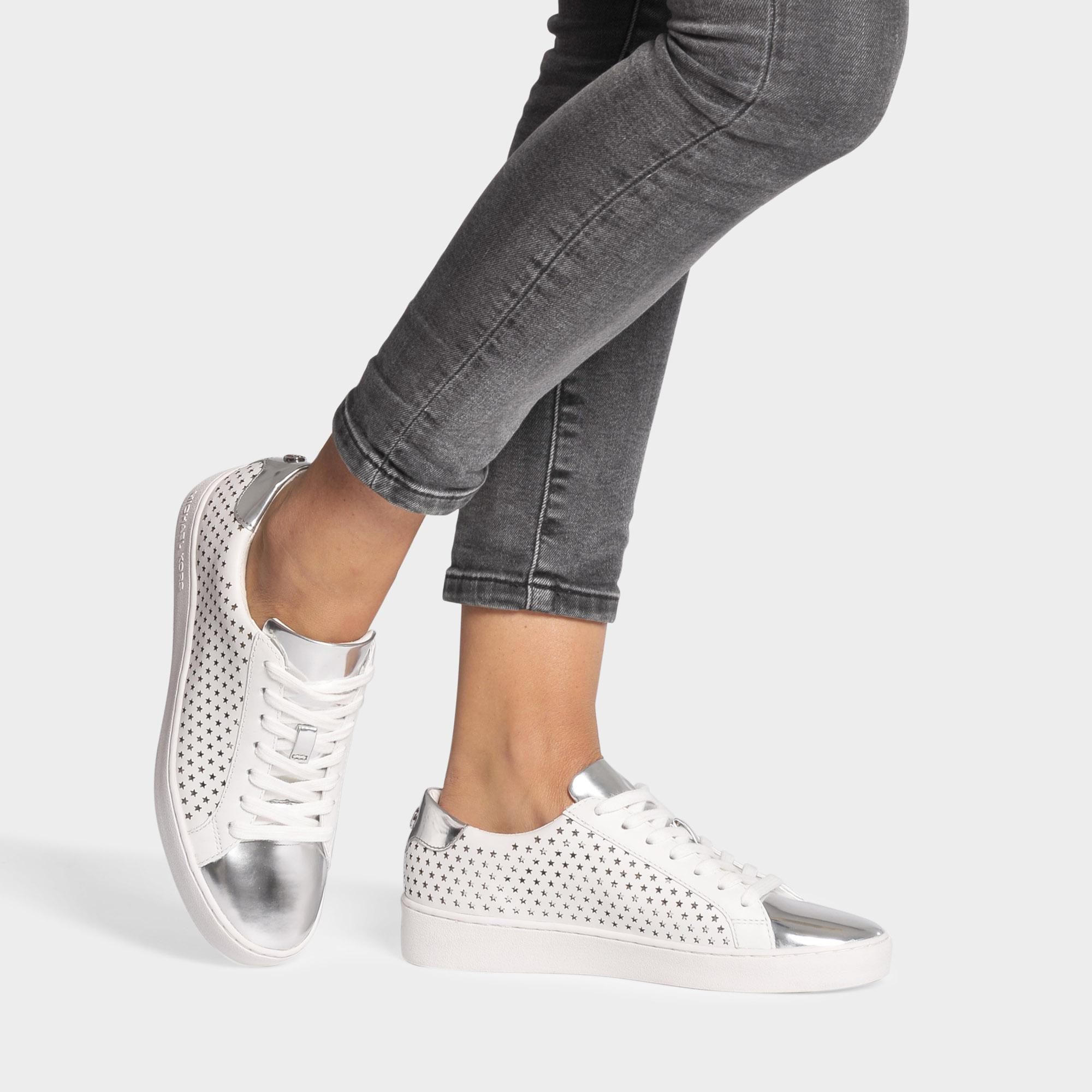 a25151a7c9b MICHAEL Michael Kors Irving Star Lace Up Sneakers In Optic White ...