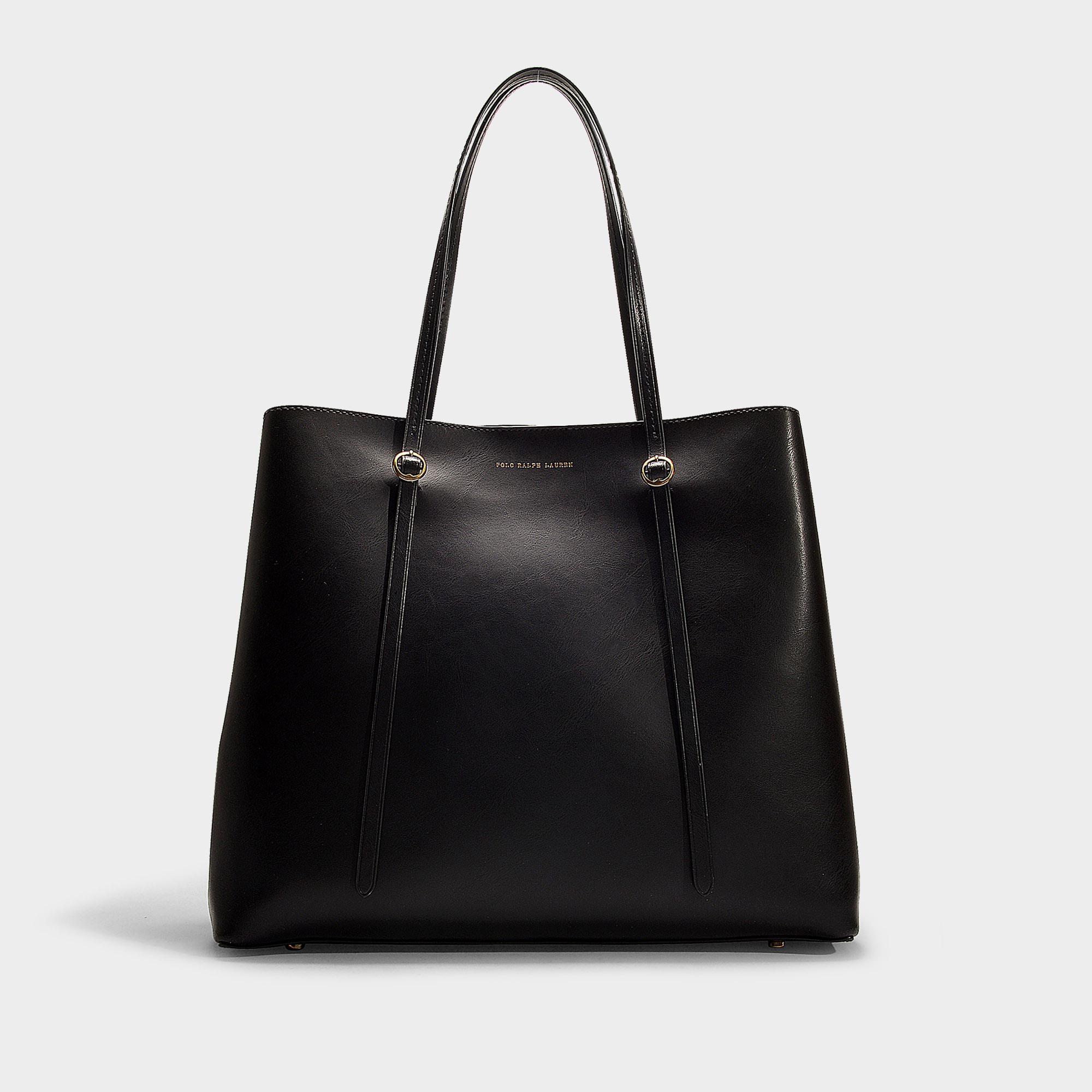 a95ab394b2 Polo Ralph Lauren Big Lennox Tote Bag In Black Calfskin in Black ...