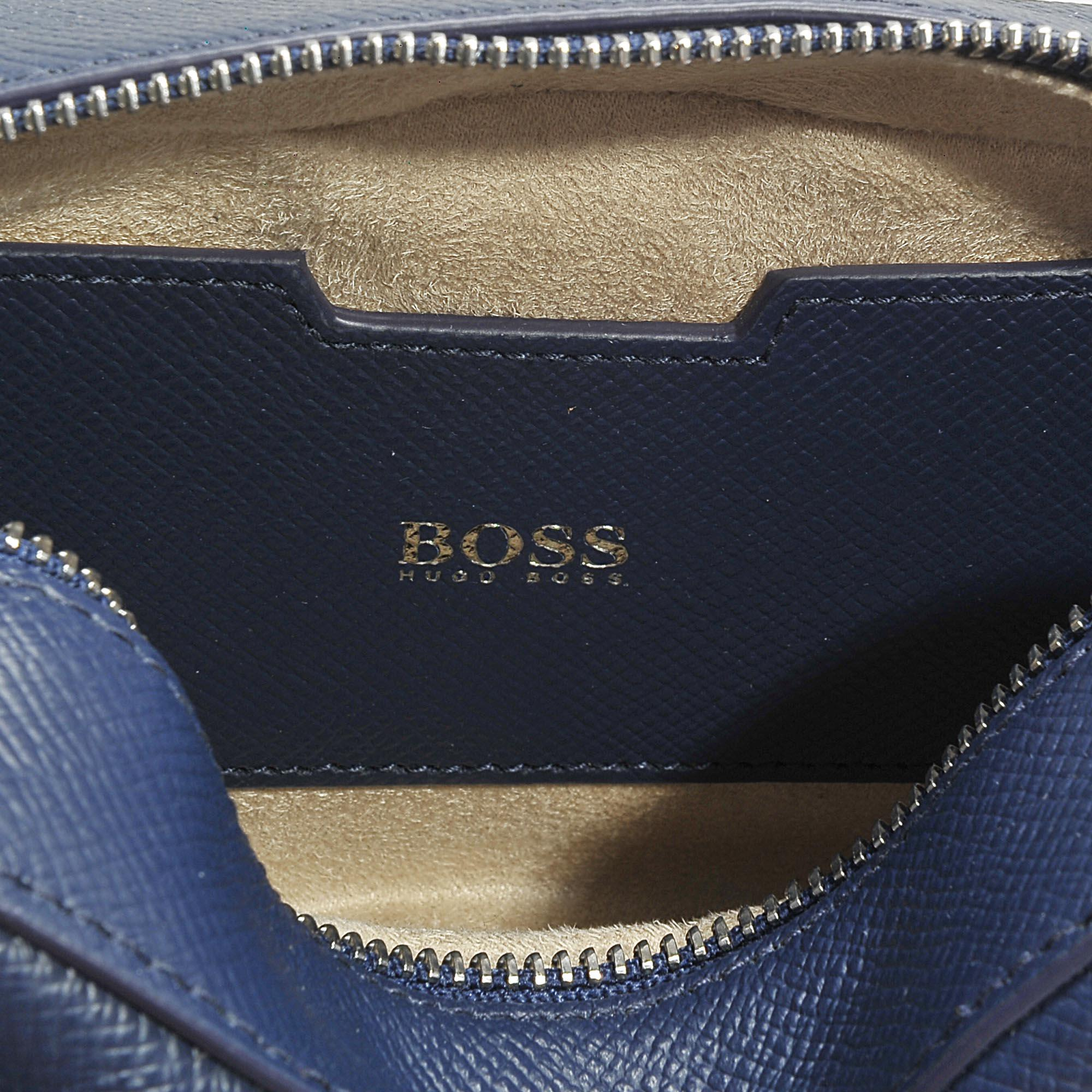 Taylor Lasered Crossbody Bag in Medium Blue Lasered Saffiano Printed Calfskin HUGO BOSS 8Zs8XVt
