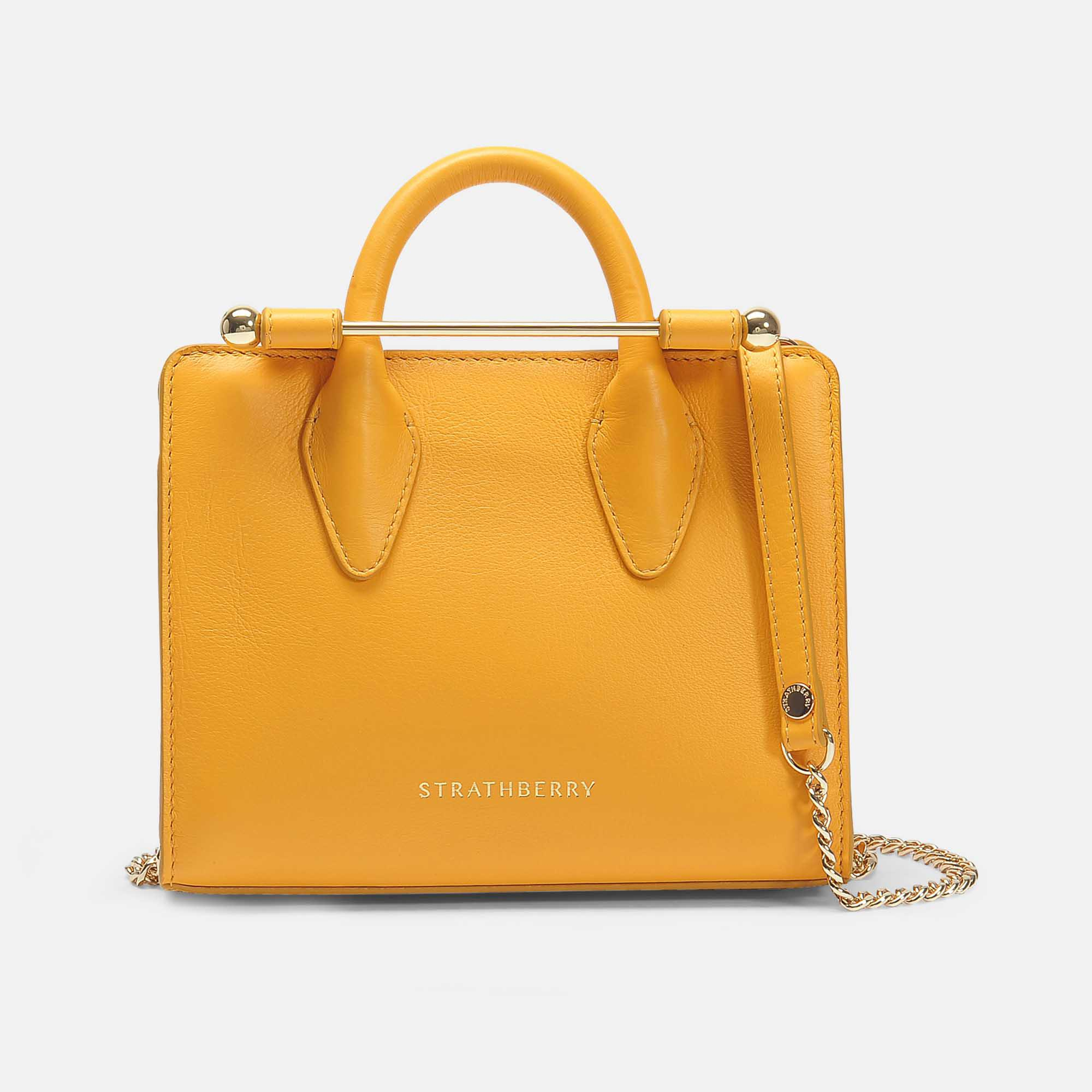 7c3ba820e70c Strathberry - The Nano Tote In Yellow Calfskin - Lyst. View fullscreen