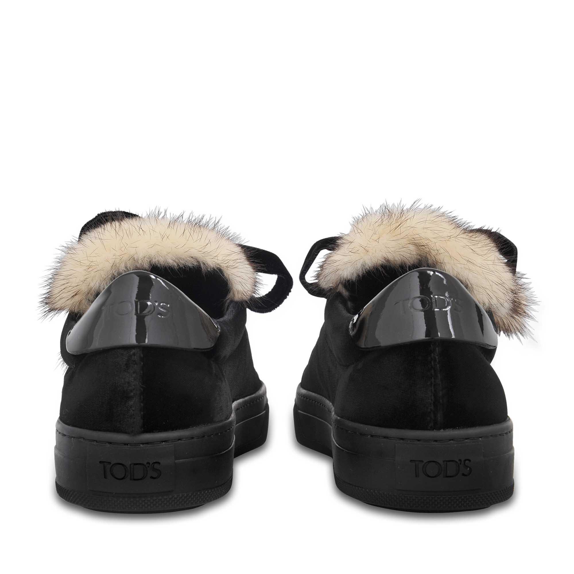 Sporty velvet and fox sneakers Tod's 2RAn4QD5d