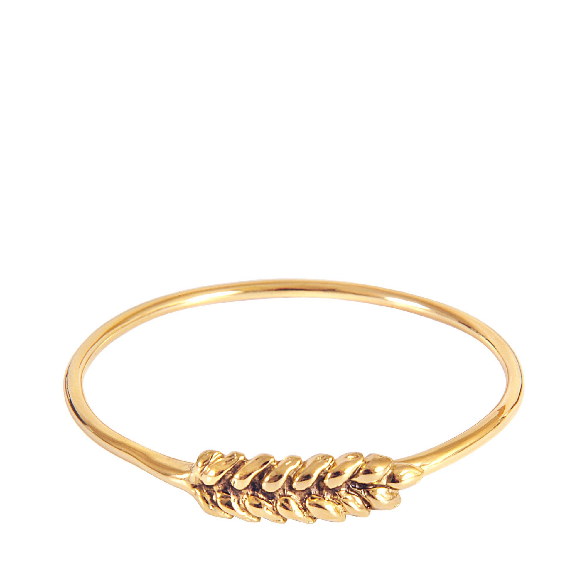 Wheat Toi et Moi Bracelet in 18K Gold-Plated Brass Aurélie Bidermann 5BbnBEnXcQ