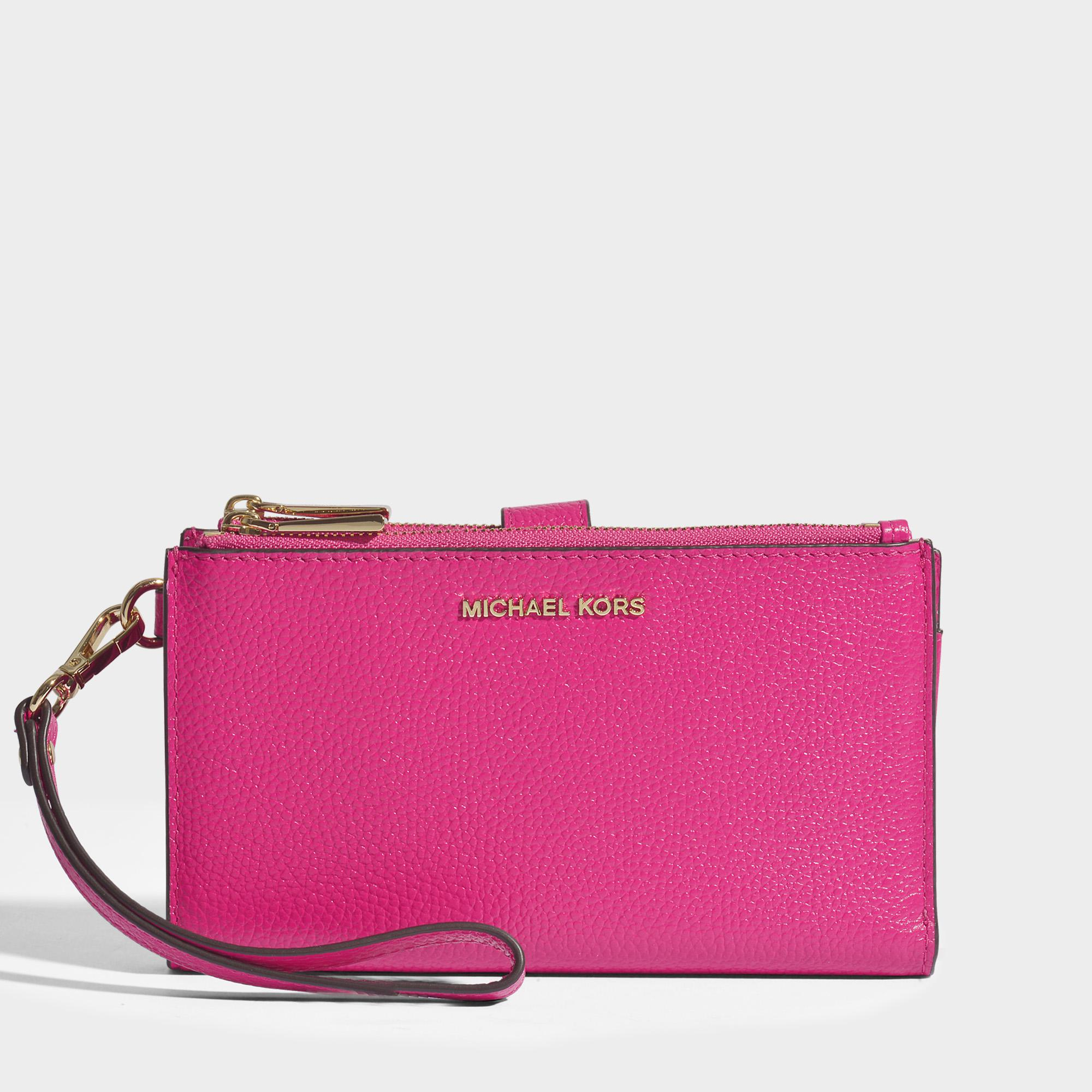 2b892add5c577 Lyst - MICHAEL Michael Kors Double Zip Wristlet In Ultra Pink Mercer ...