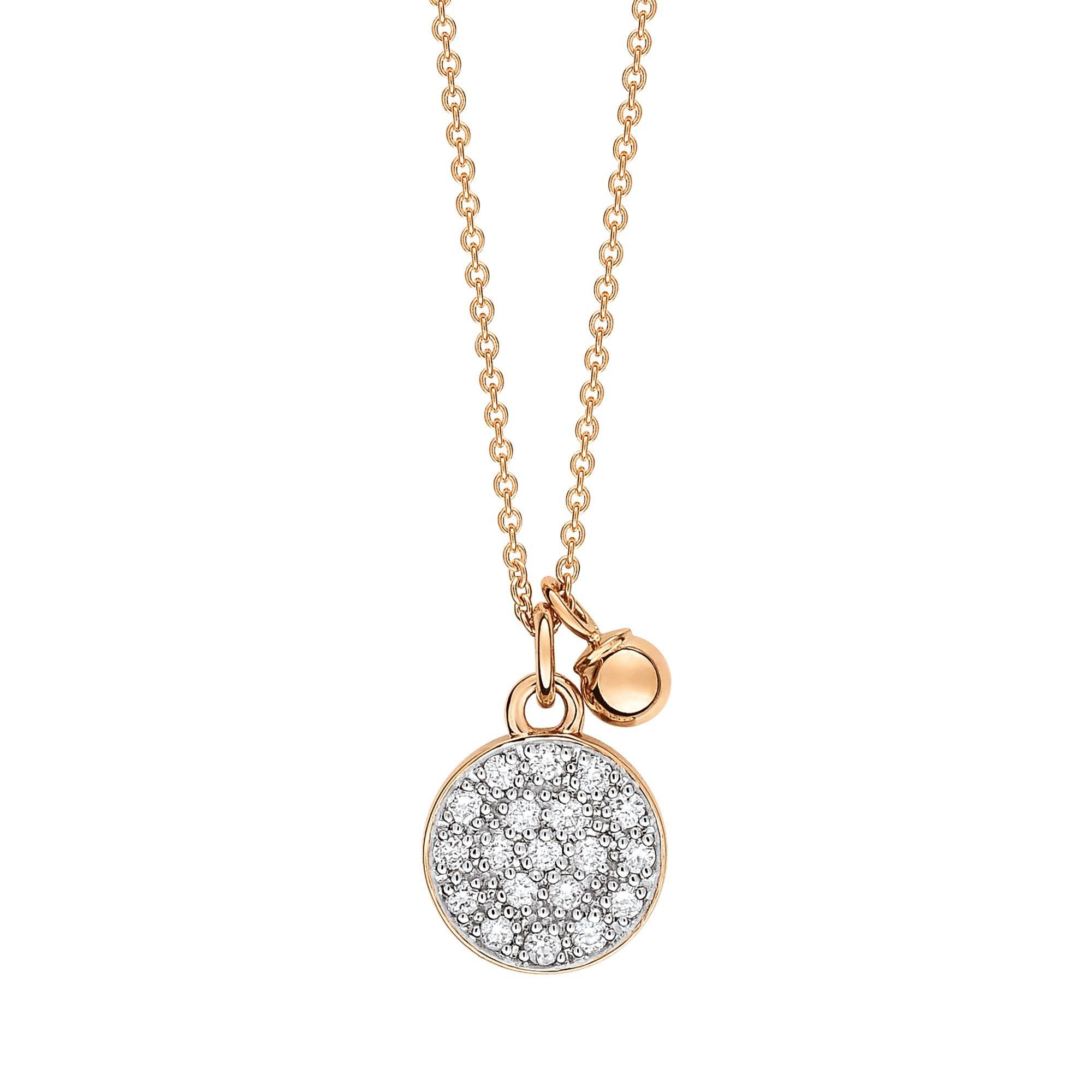 Mini Diamond Circle 18-karat rose gold necklace Ginette NY XUkxmo